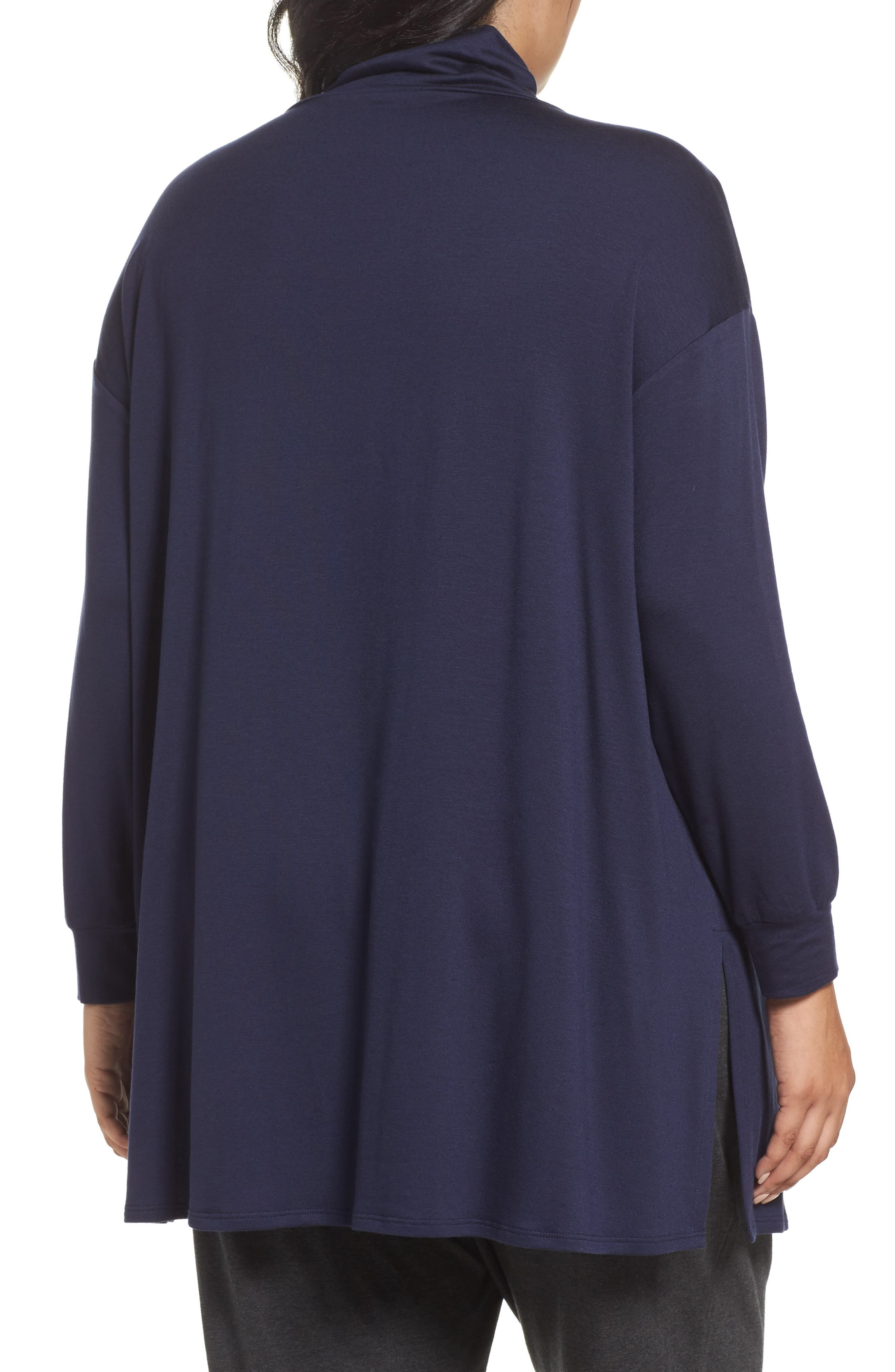 Funnel Neck Jersey Tunic,                             Alternate thumbnail 6, color,