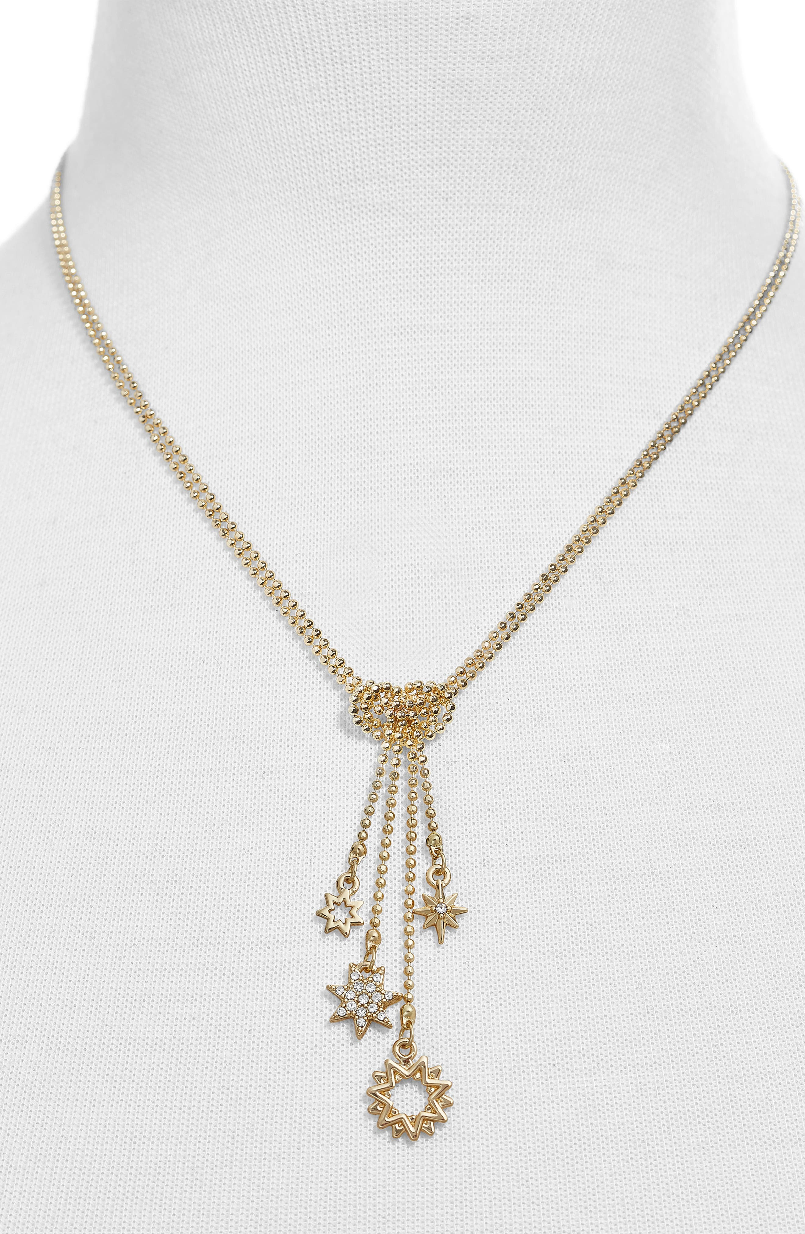 Cressida Star Charms Statement Necklace,                             Alternate thumbnail 2, color,                             GOLD