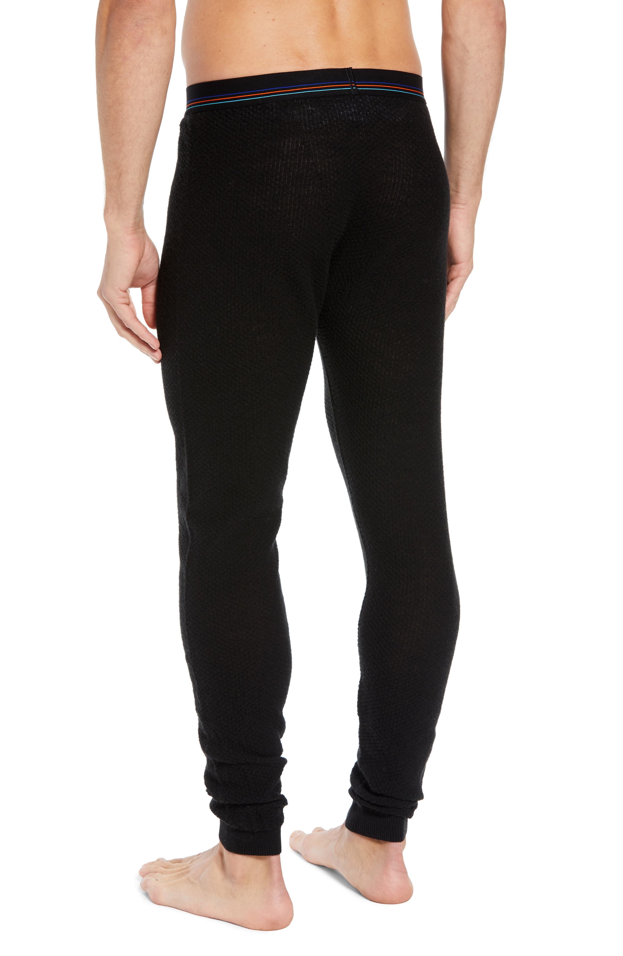 Capilene<sup>®</sup> Thermal Weight Base Layer Pants,                             Alternate thumbnail 2, color,                             BLACK