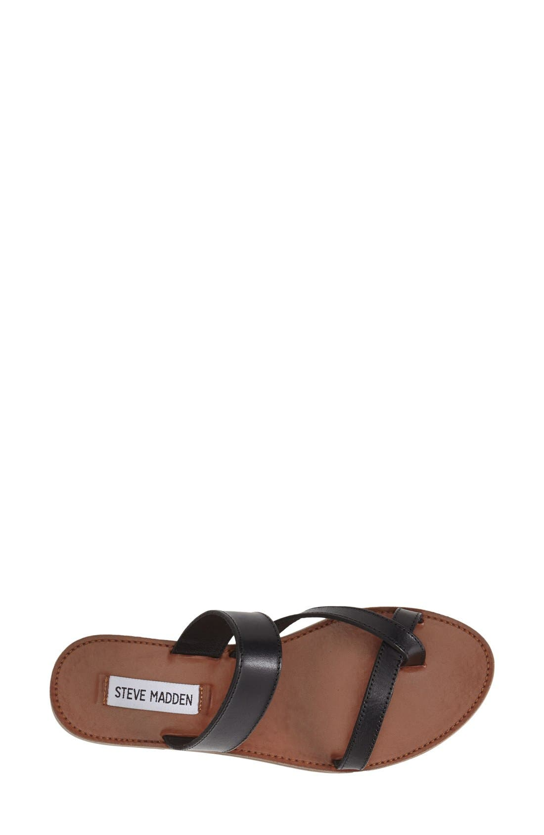'Aintso' Strappy Leather Toe Ring Sandal,                             Alternate thumbnail 3, color,                             001