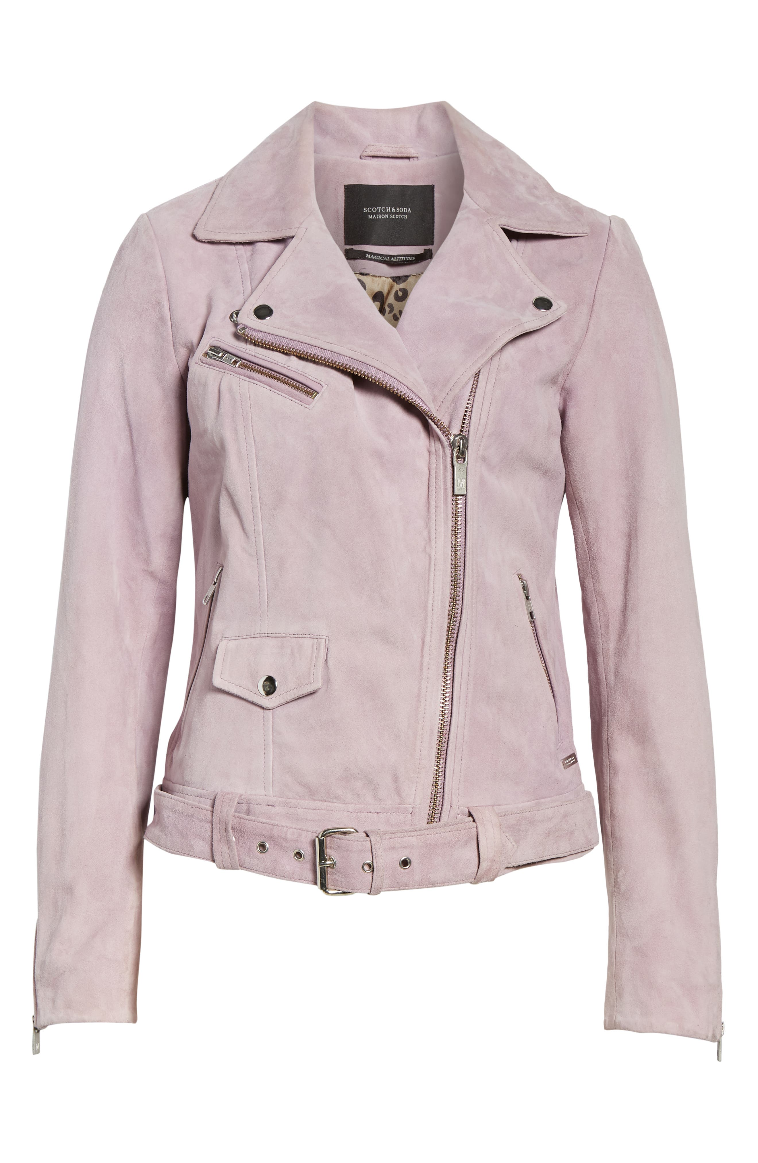 Suede Biker Jacket,                             Alternate thumbnail 6, color,                             500