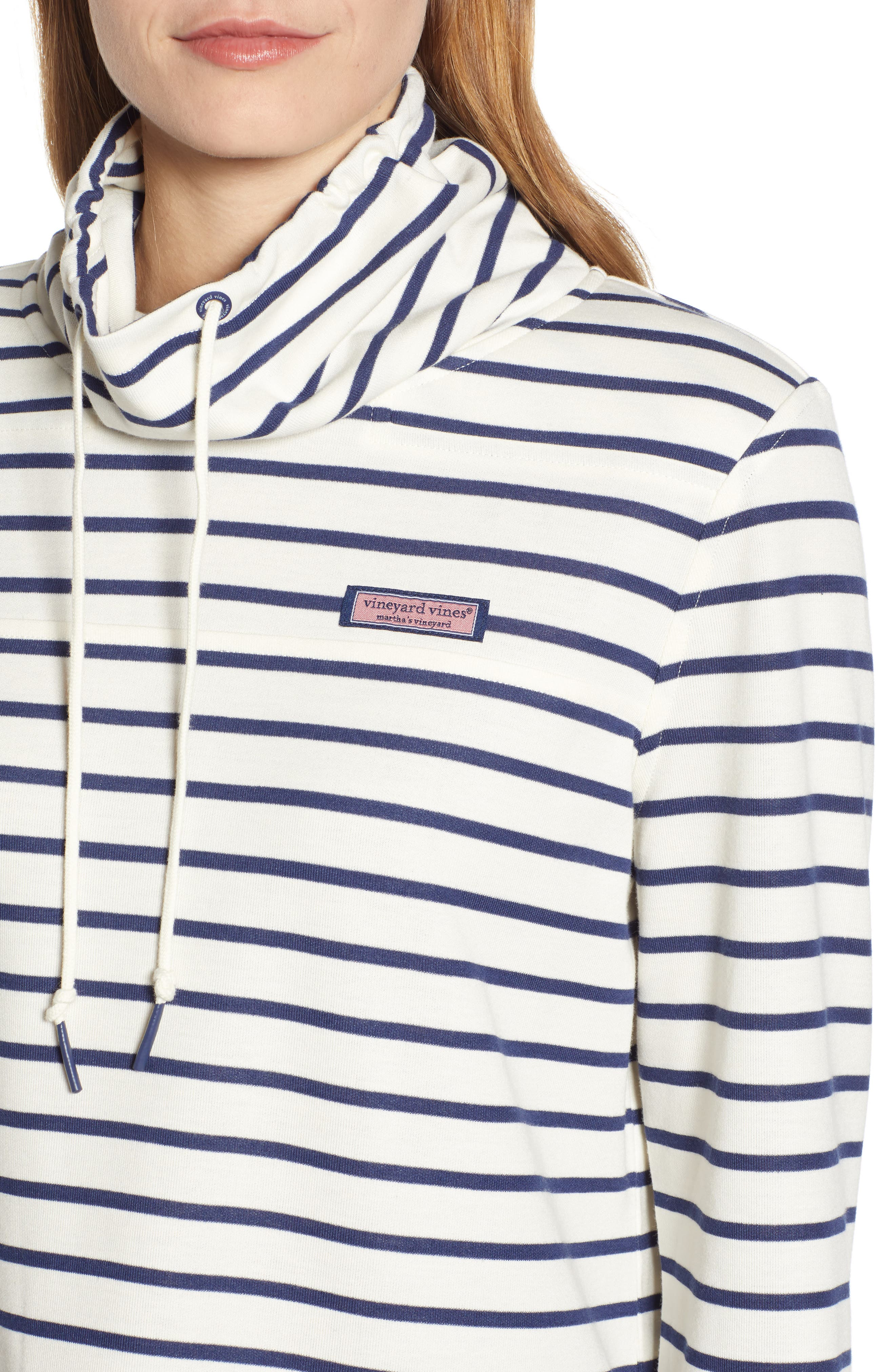 Relaxed Fit Stripe Pullover,                             Alternate thumbnail 4, color,                             907