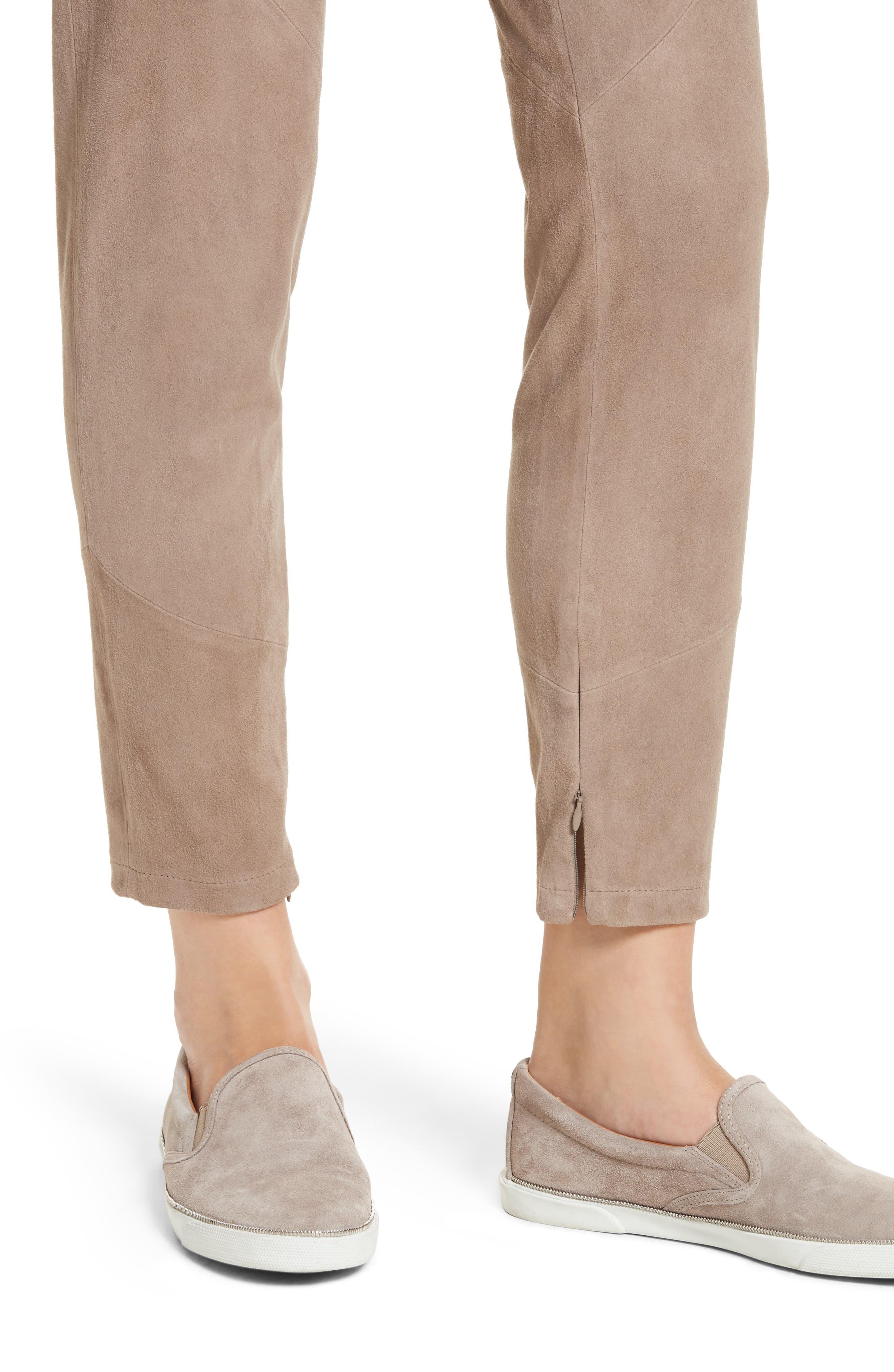 Slim Suede Pants,                             Alternate thumbnail 4, color,                             250