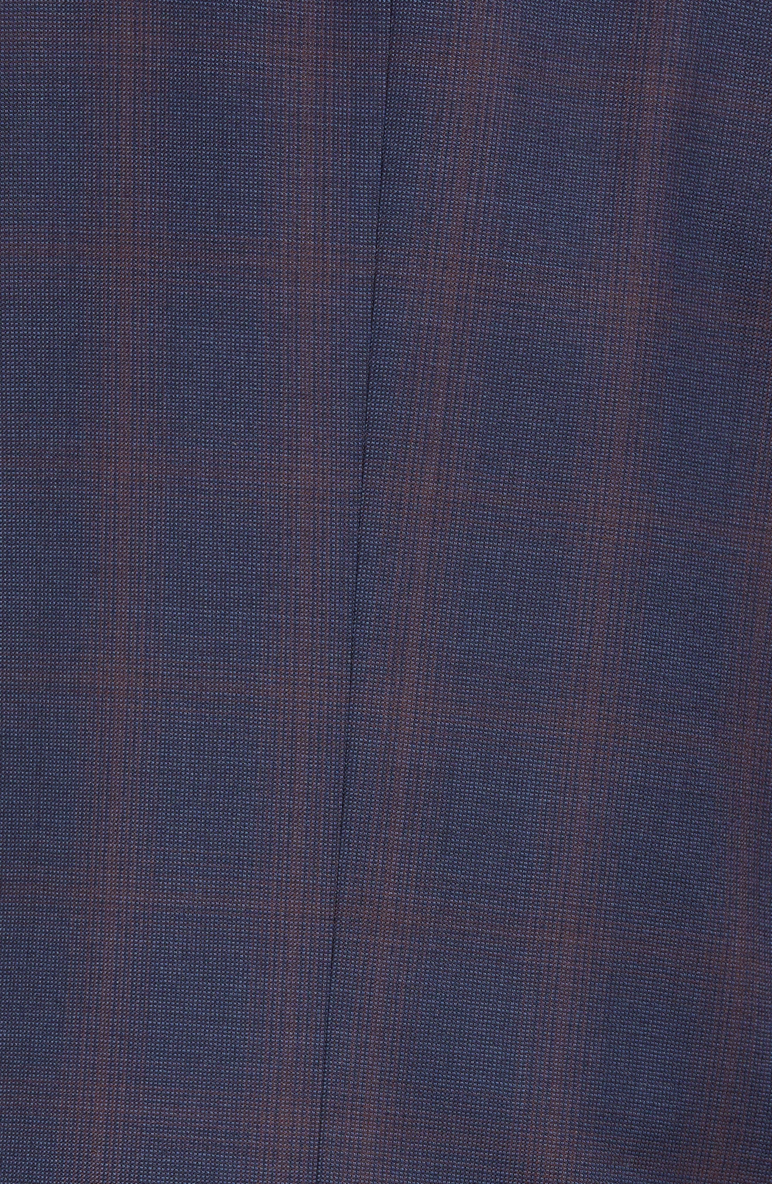 TED BAKER LONDON,                             Roger Slim Fit Plaid Wool Suit,                             Alternate thumbnail 7, color,                             NAVY