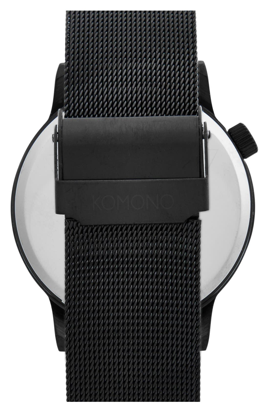 'Winston' Round Dial Strap Watch, 40mm,                             Alternate thumbnail 2, color,                             001