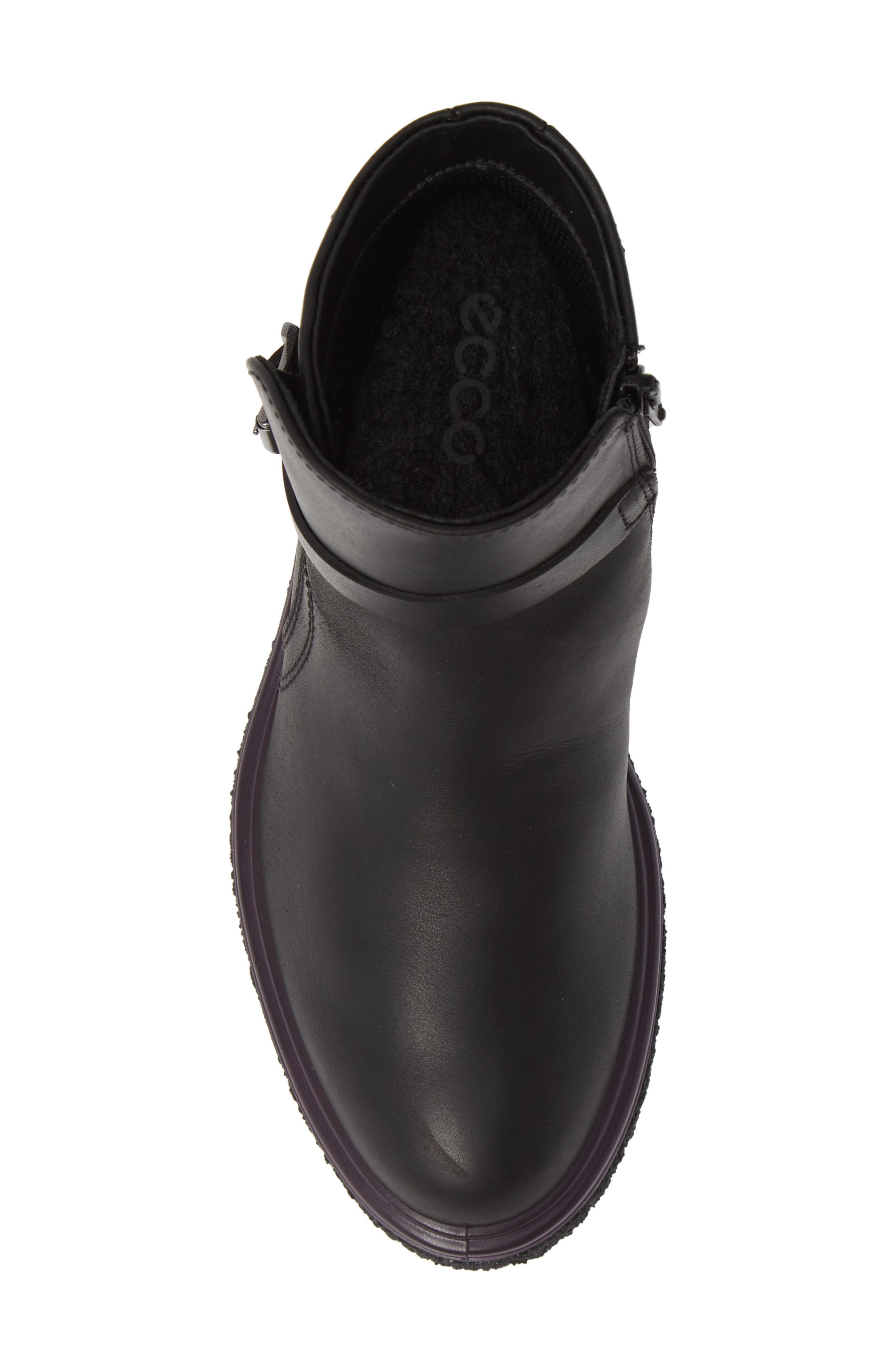 Crepetray GTX Waterproof Bootie,                             Alternate thumbnail 5, color,                             BLACK LEATHER