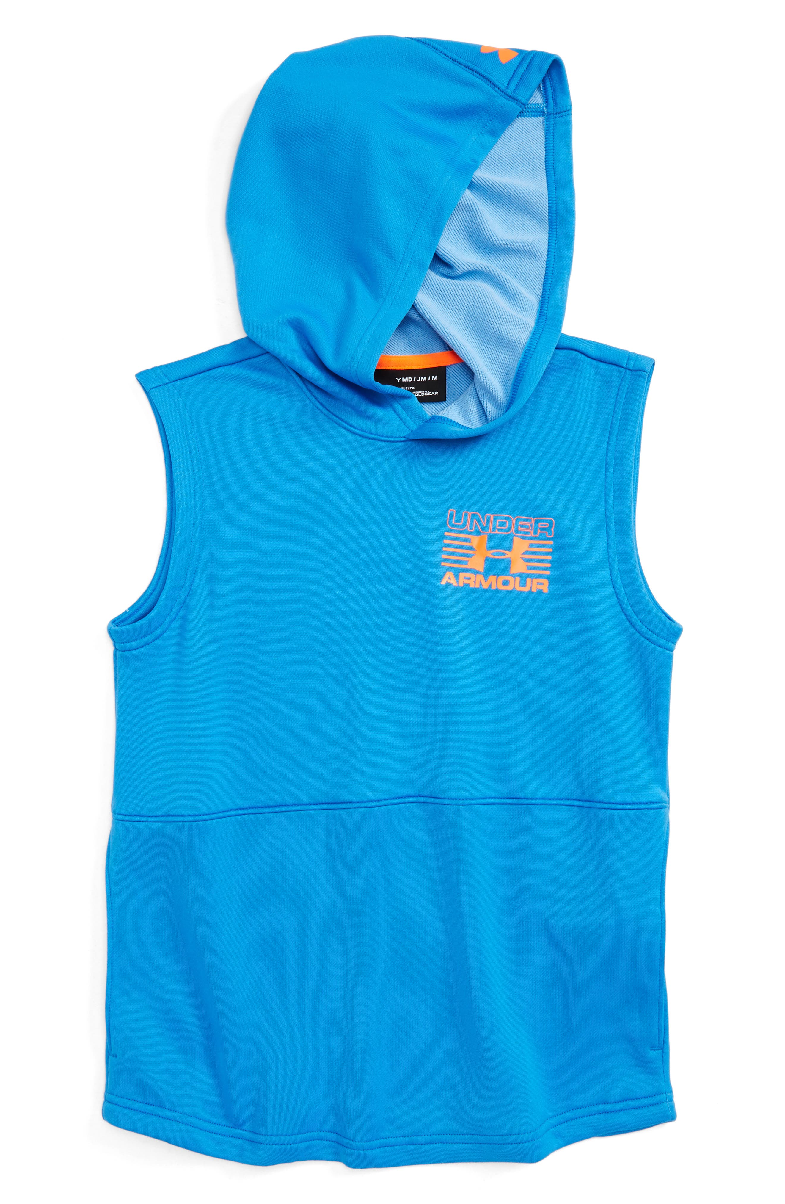 Train to Game Sleeveless ColdGear<sup>®</sup> Hoodie,                             Main thumbnail 2, color,