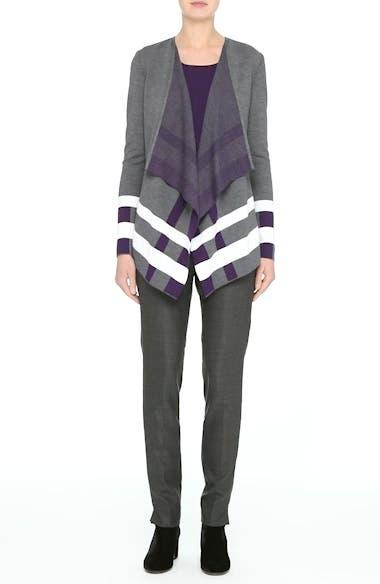 Alternate Video 8  - St. John Collection Milano Knit Jacquard Drape Front Jacket