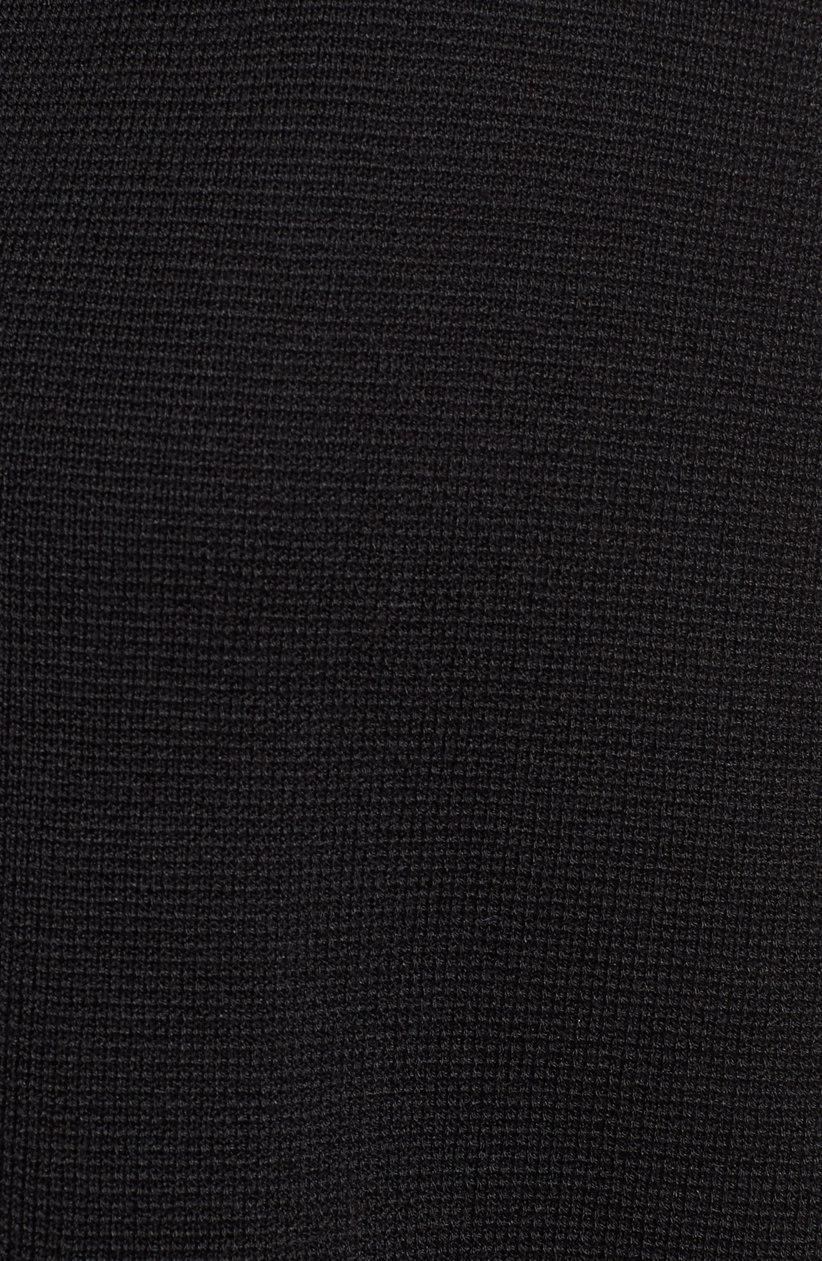 Stand Collar Silk & Organic Cotton Cardigan,                             Alternate thumbnail 6, color,                             001