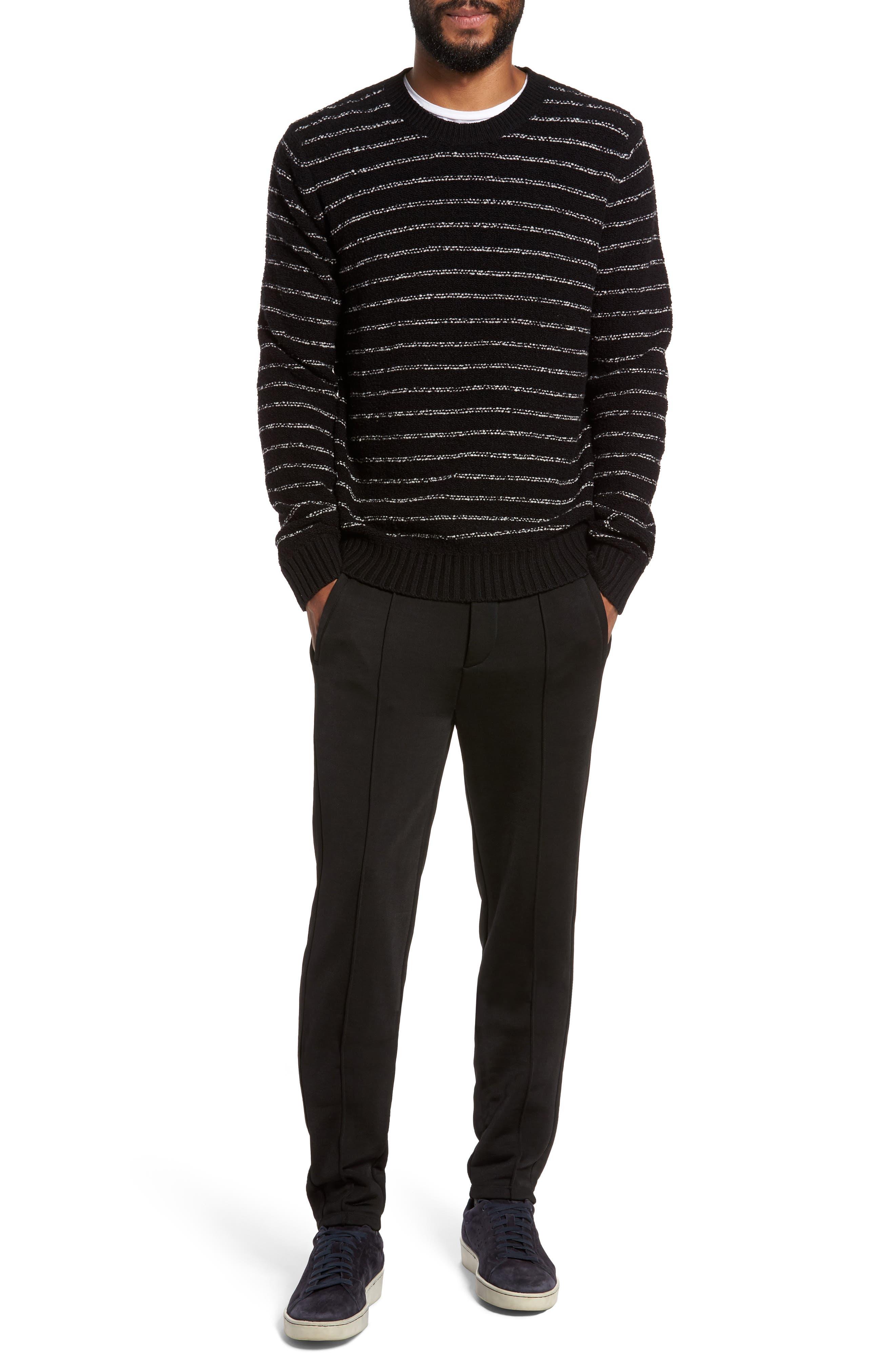 Stripe Merino Sweater,                             Alternate thumbnail 7, color,                             001