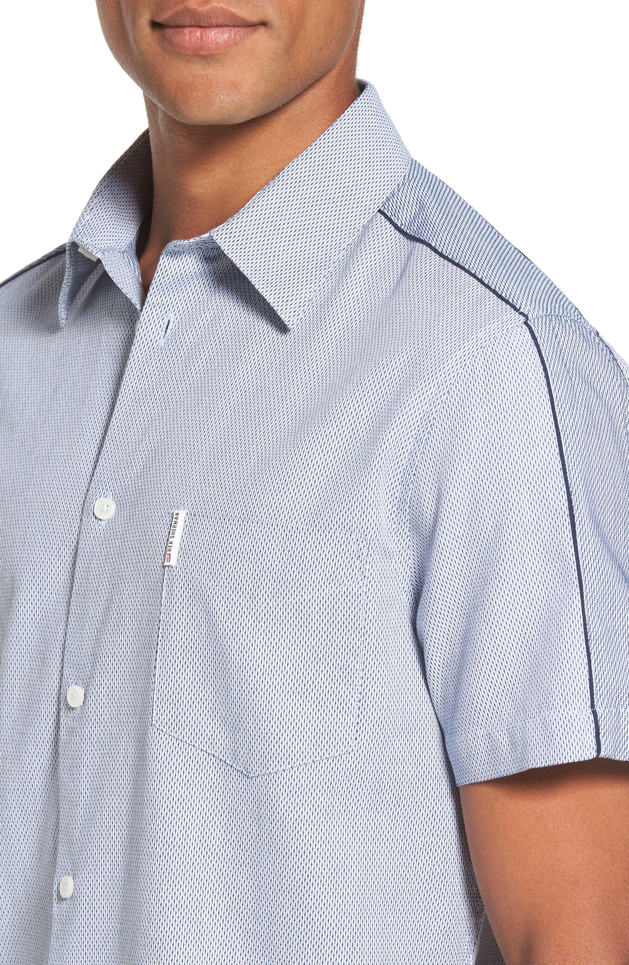 Dobby Short Sleeve Shirt,                             Alternate thumbnail 4, color,                             450