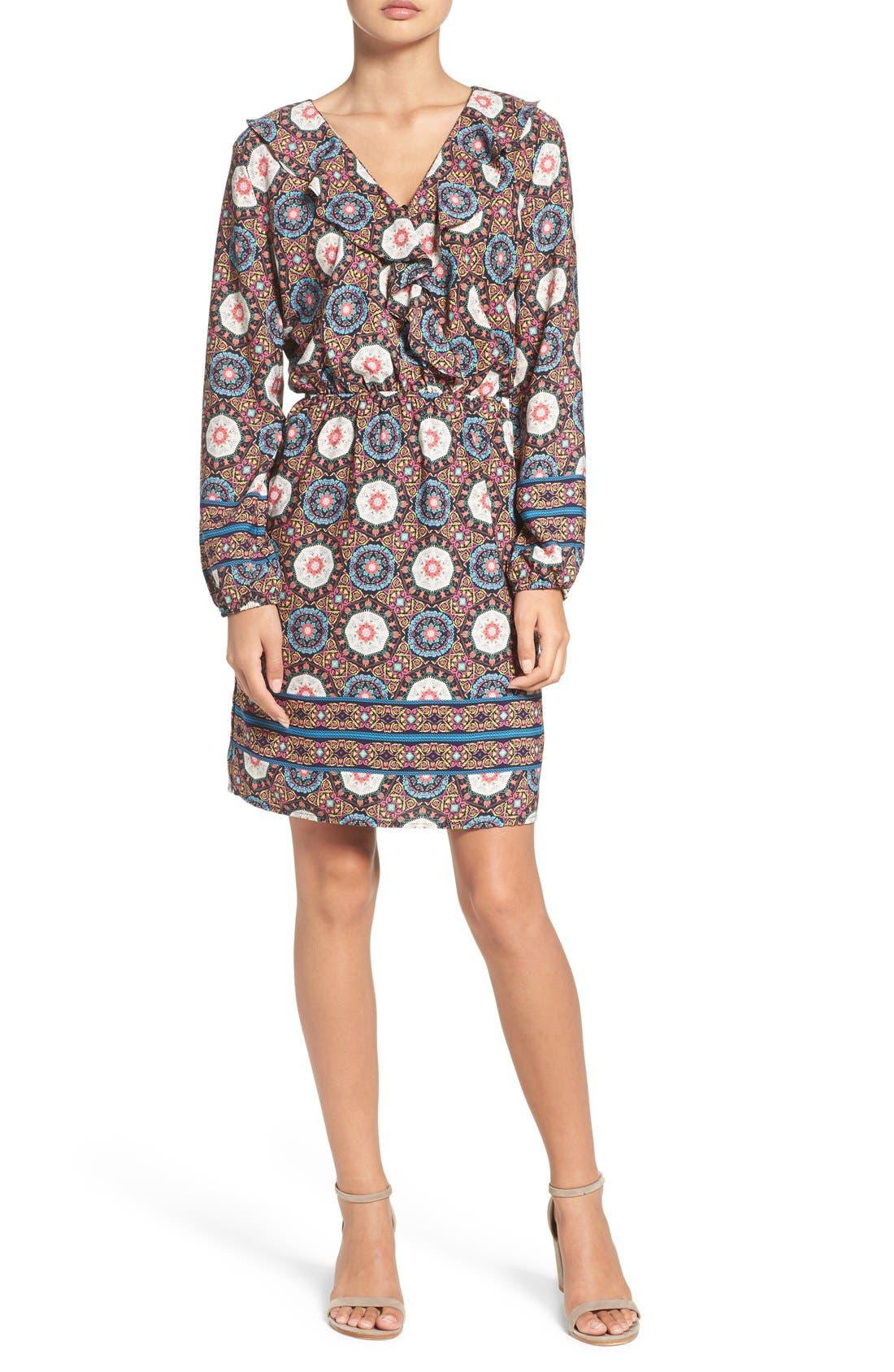 'Nadia' Ruffle Blouson Dress,                             Alternate thumbnail 5, color,                             409