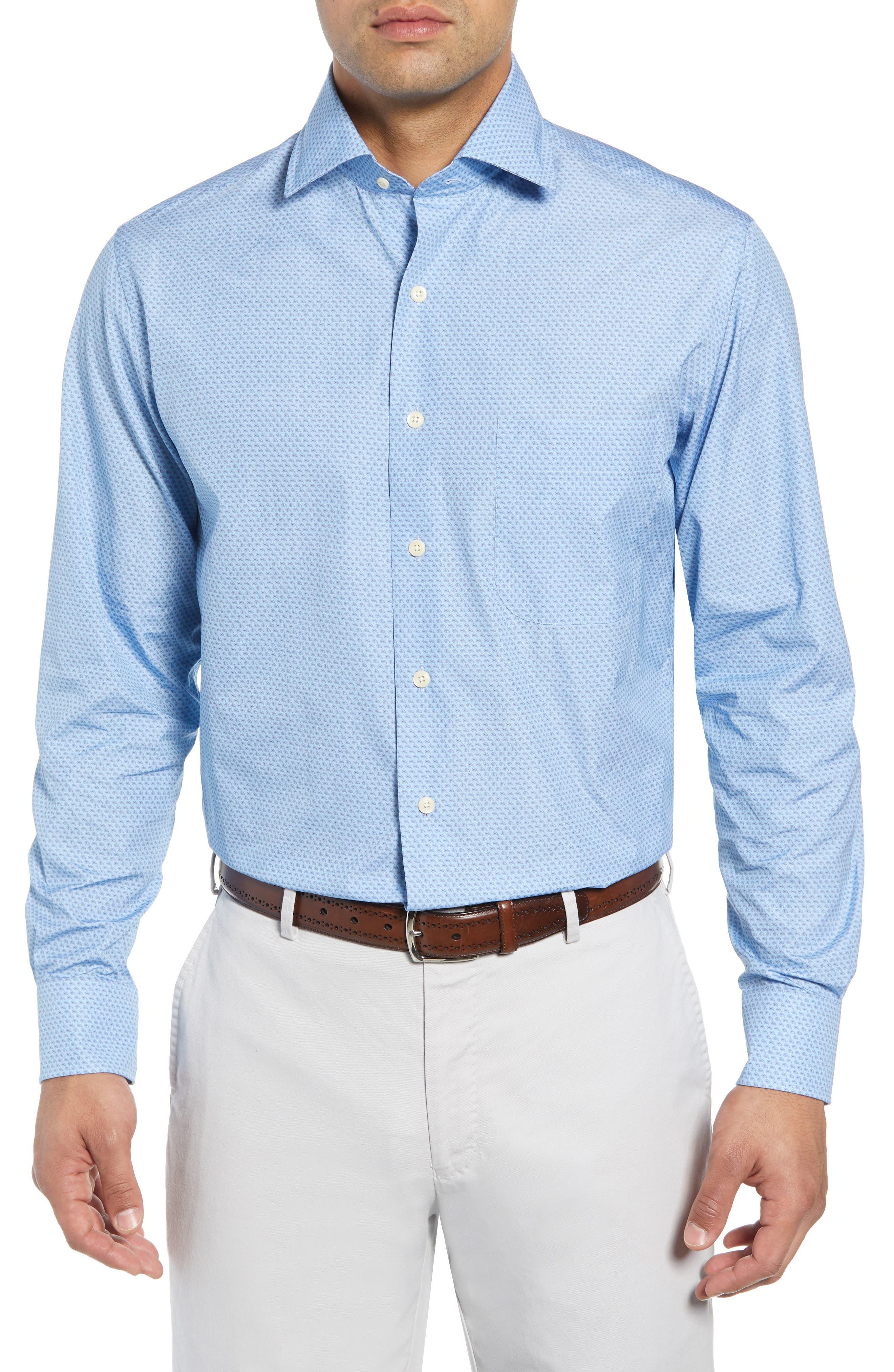 Niblick Regular Fit Sport Shirt,                         Main,                         color, BLUE