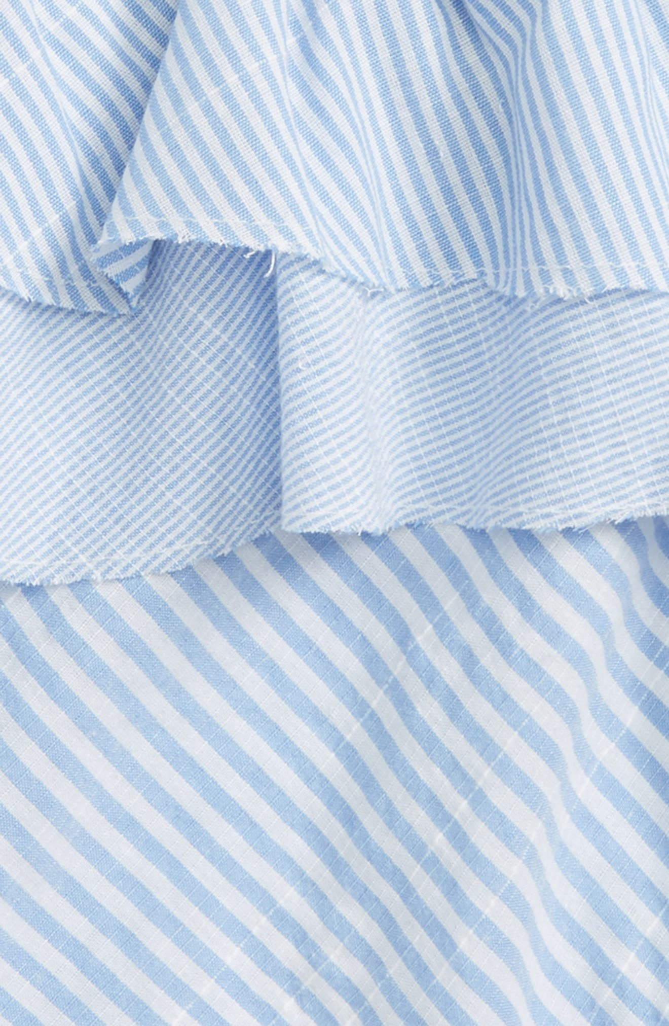 Striped Ruffle Top,                             Alternate thumbnail 2, color,                             400