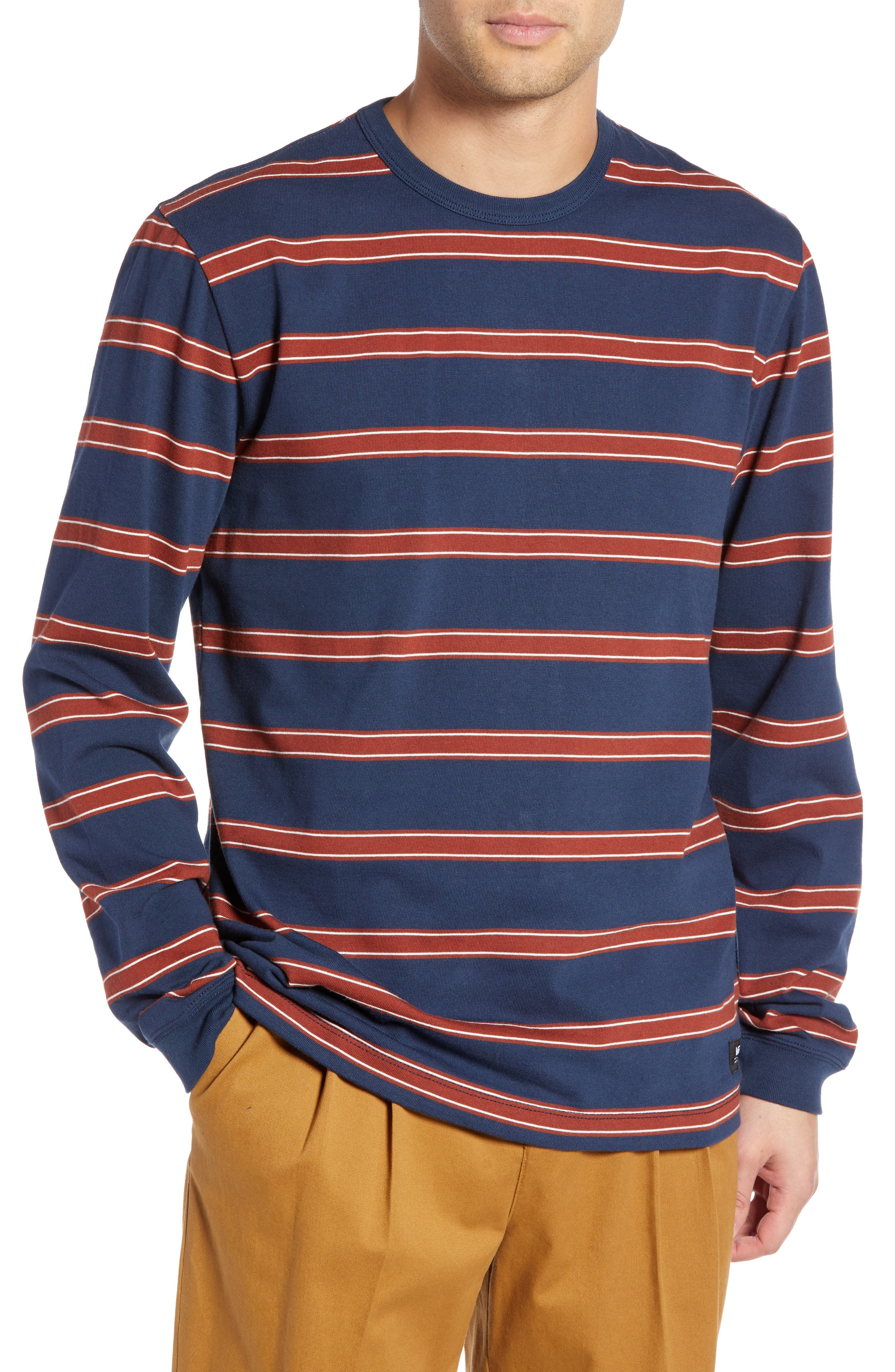 Watson Striped Long Sleeve T-Shirt,                             Main thumbnail 1, color,                             DRESS BLUES