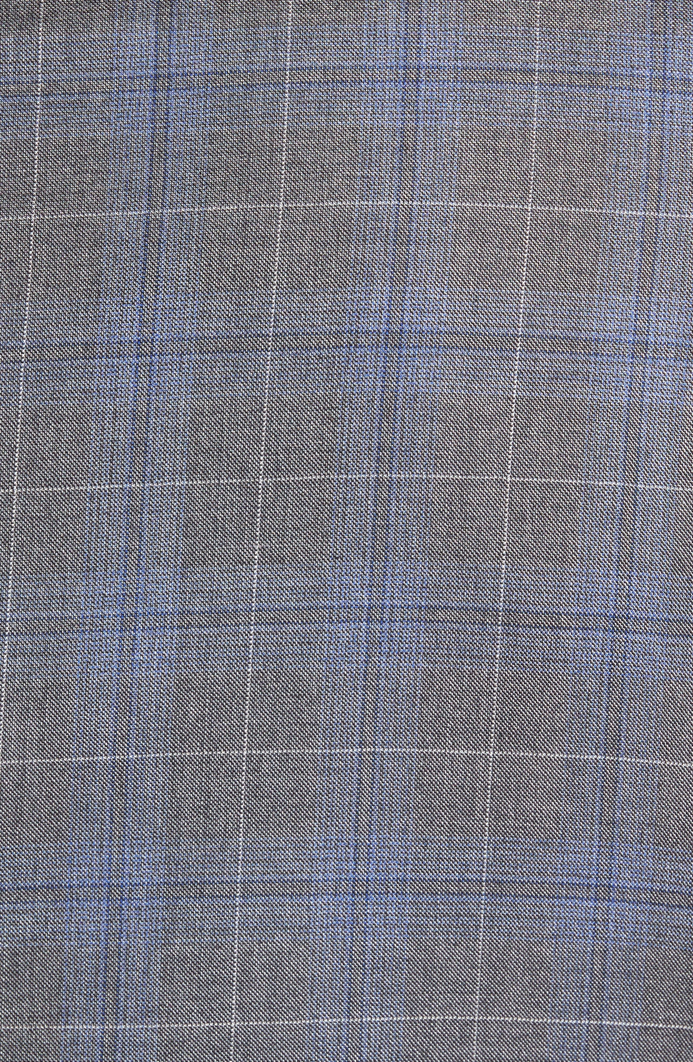Classic Fit Plaid Wool & Silk Suit,                             Alternate thumbnail 7, color,