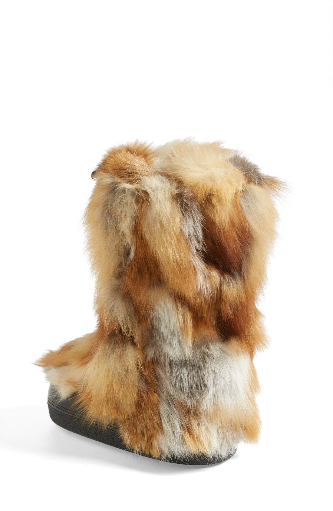 'Danny' Genuine Fox Fur Boot,                             Alternate thumbnail 4, color,                             250