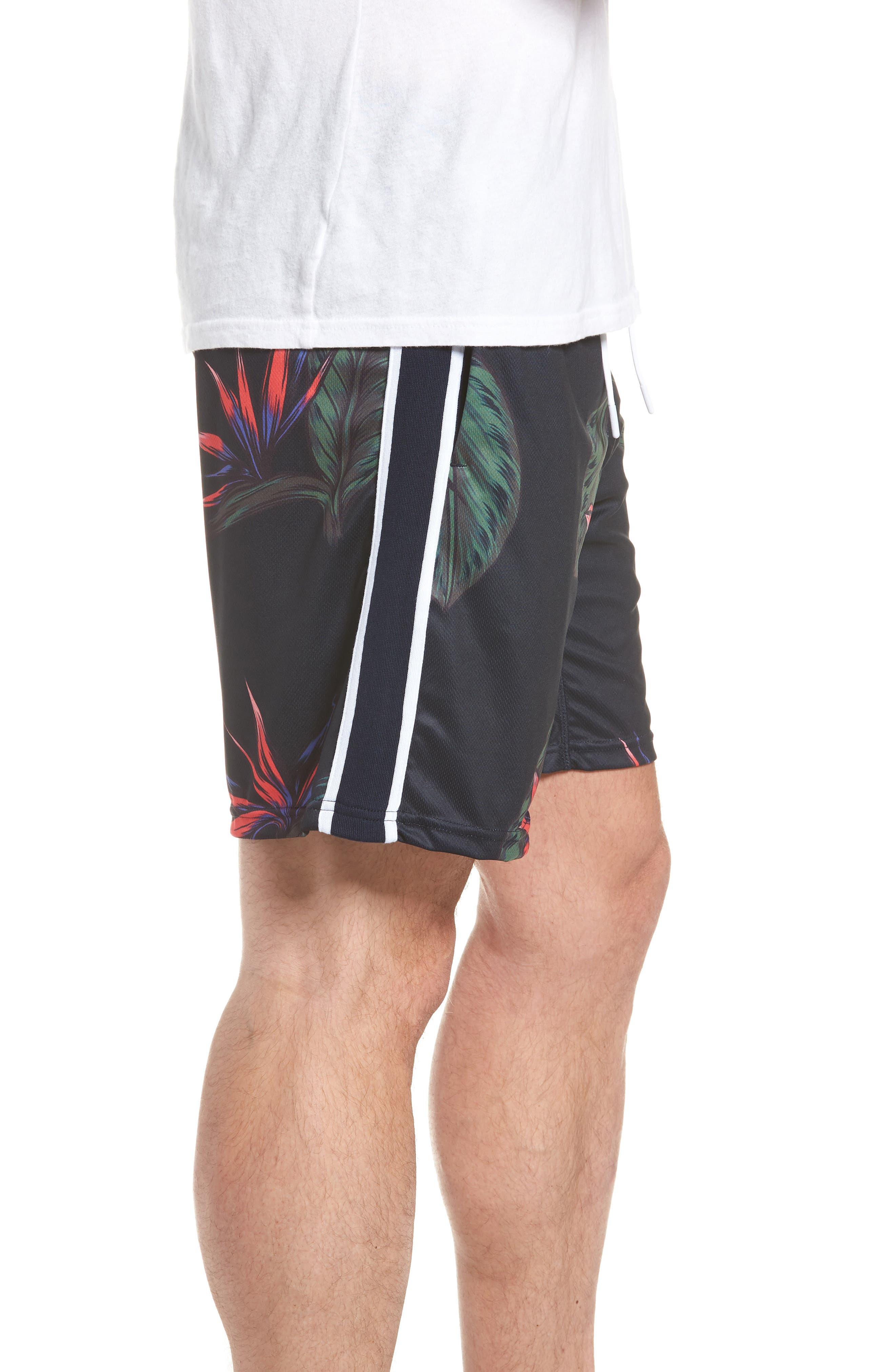 Lotus Sideline Shorts,                             Alternate thumbnail 3, color,                             NAVY