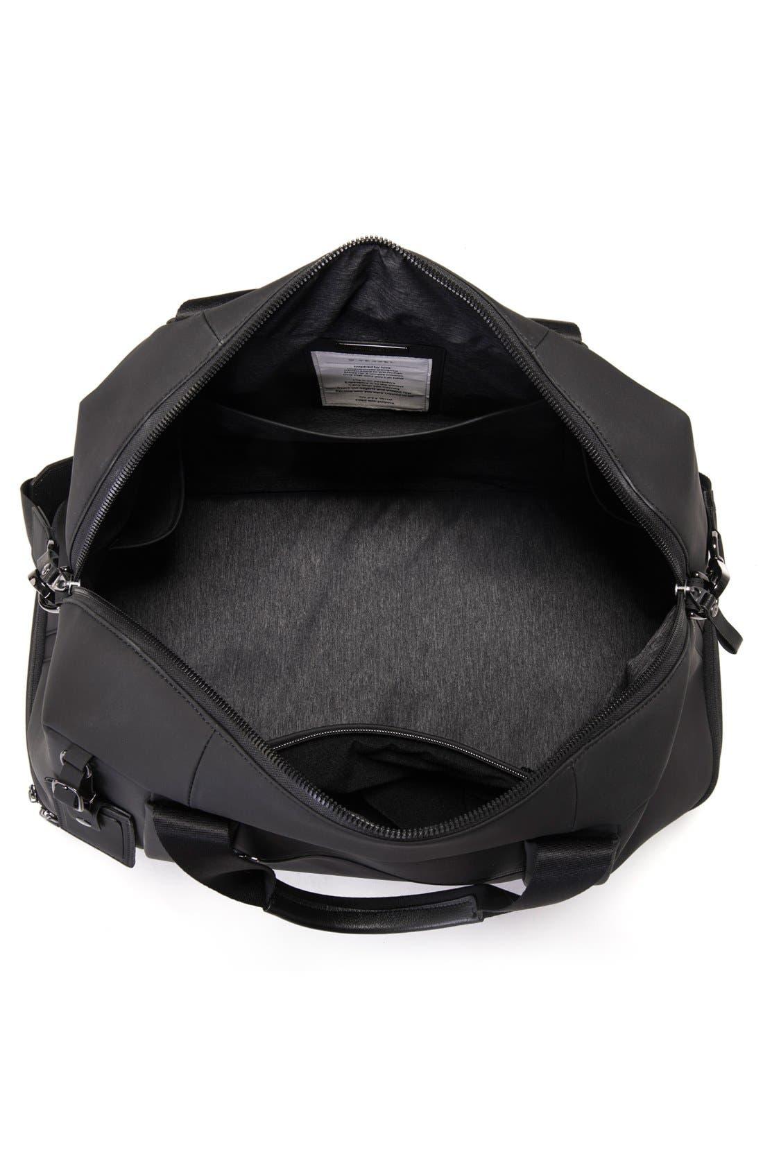 Signature Large Boston Duffel Bag,                             Alternate thumbnail 4, color,                             MATTE BLACK