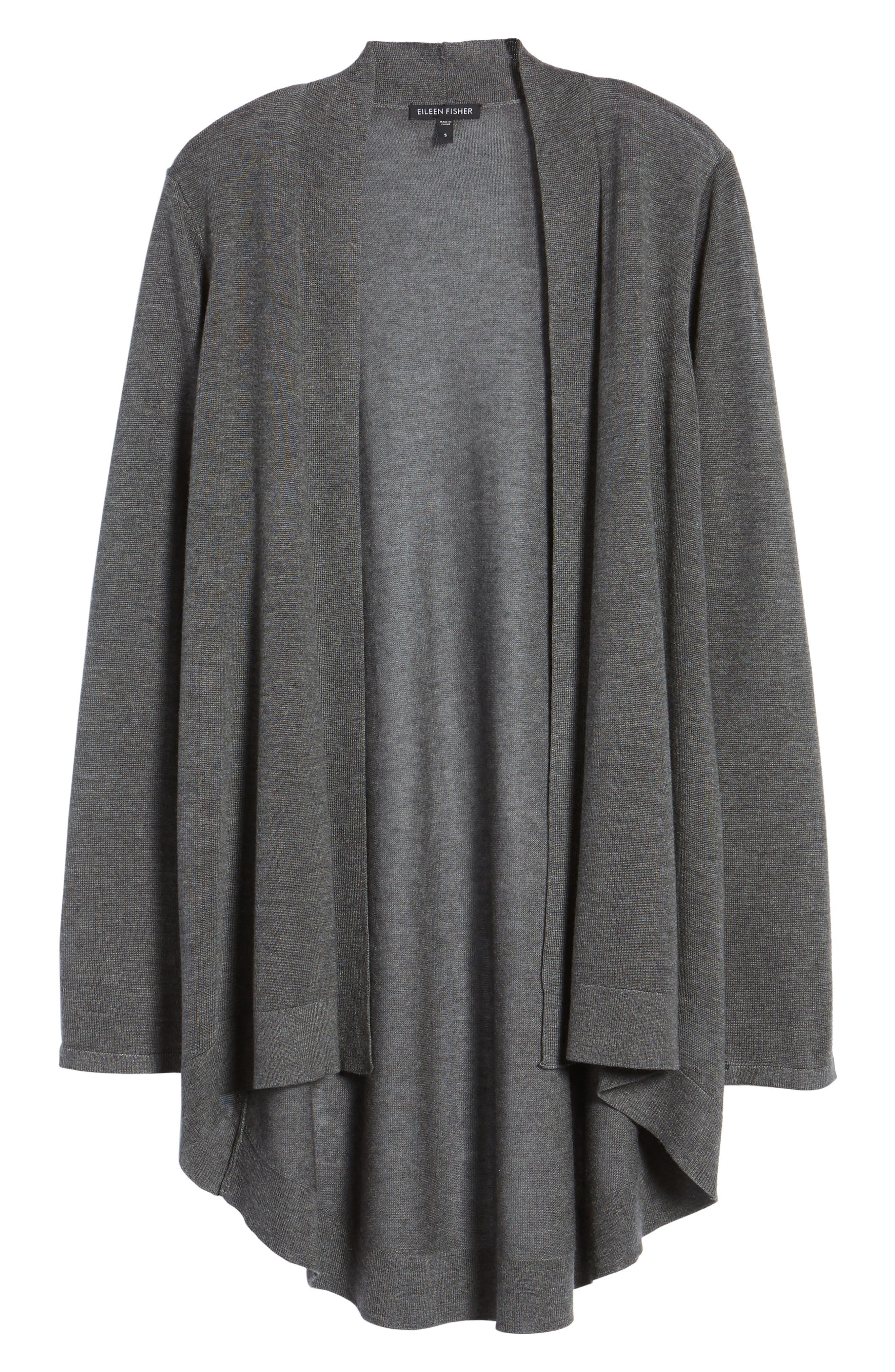 Tencel<sup>®</sup> Lyocell & Merino Wool Shaped Cardigan,                             Alternate thumbnail 6, color,                             030