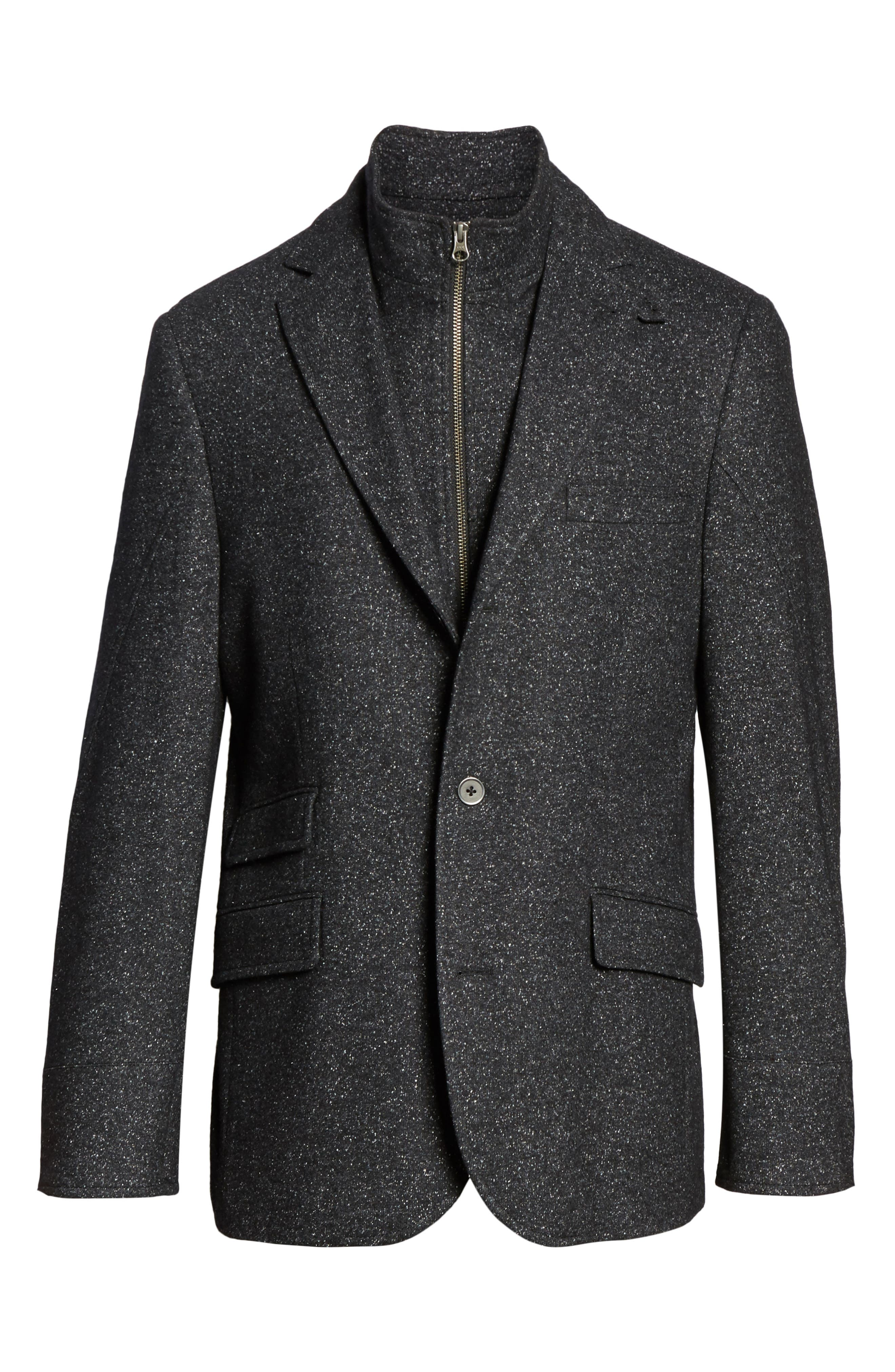 Donegal Wool Blend Hybrid Coat,                             Alternate thumbnail 5, color,                             021