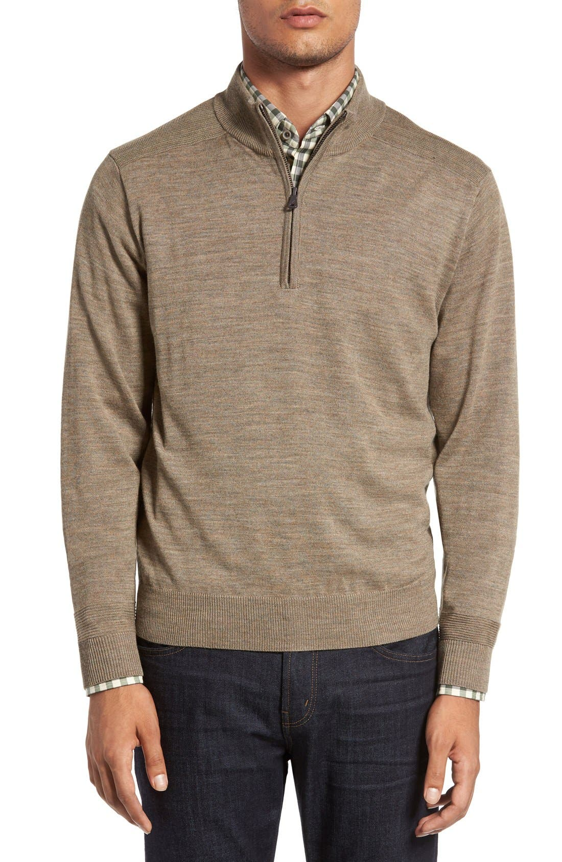 Douglas Quarter Zip Wool Blend Sweater,                             Main thumbnail 2, color,