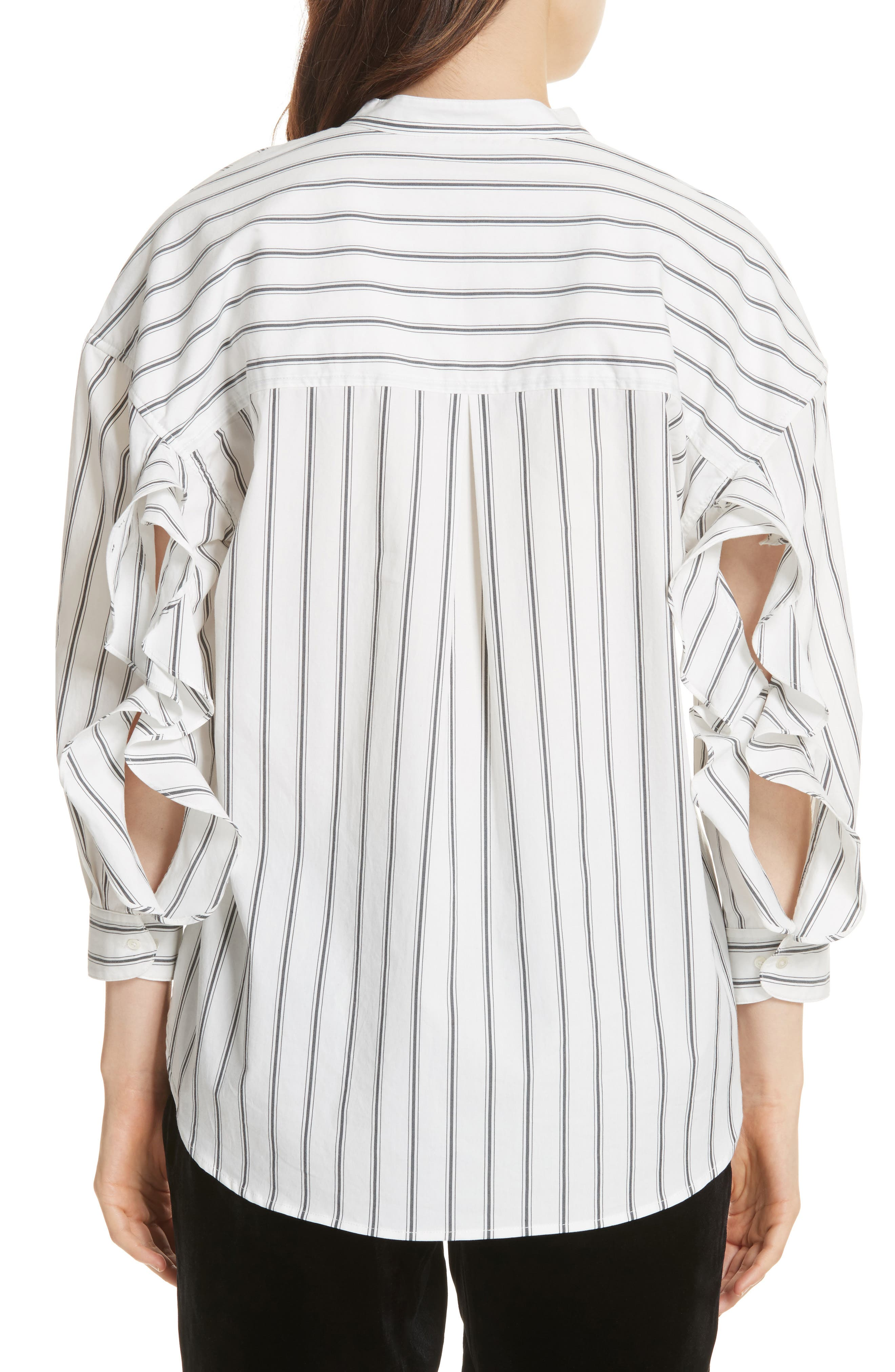 Poni Stripe Shirt,                             Alternate thumbnail 2, color,                             120
