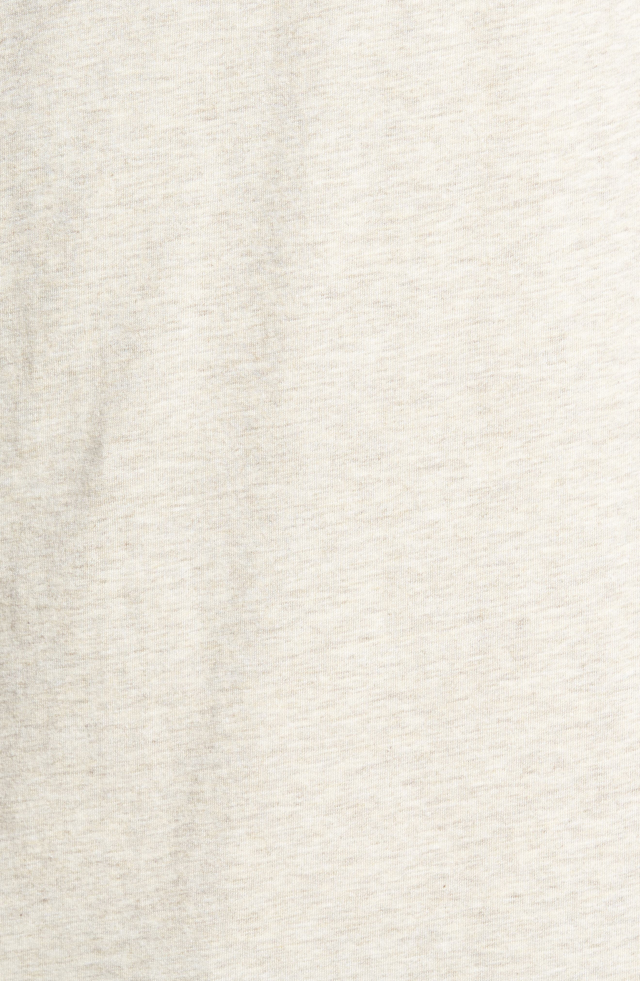 'Daily' Long Sleeve Organic Cotton Henley,                             Alternate thumbnail 5, color,                             BIRCH WHITE