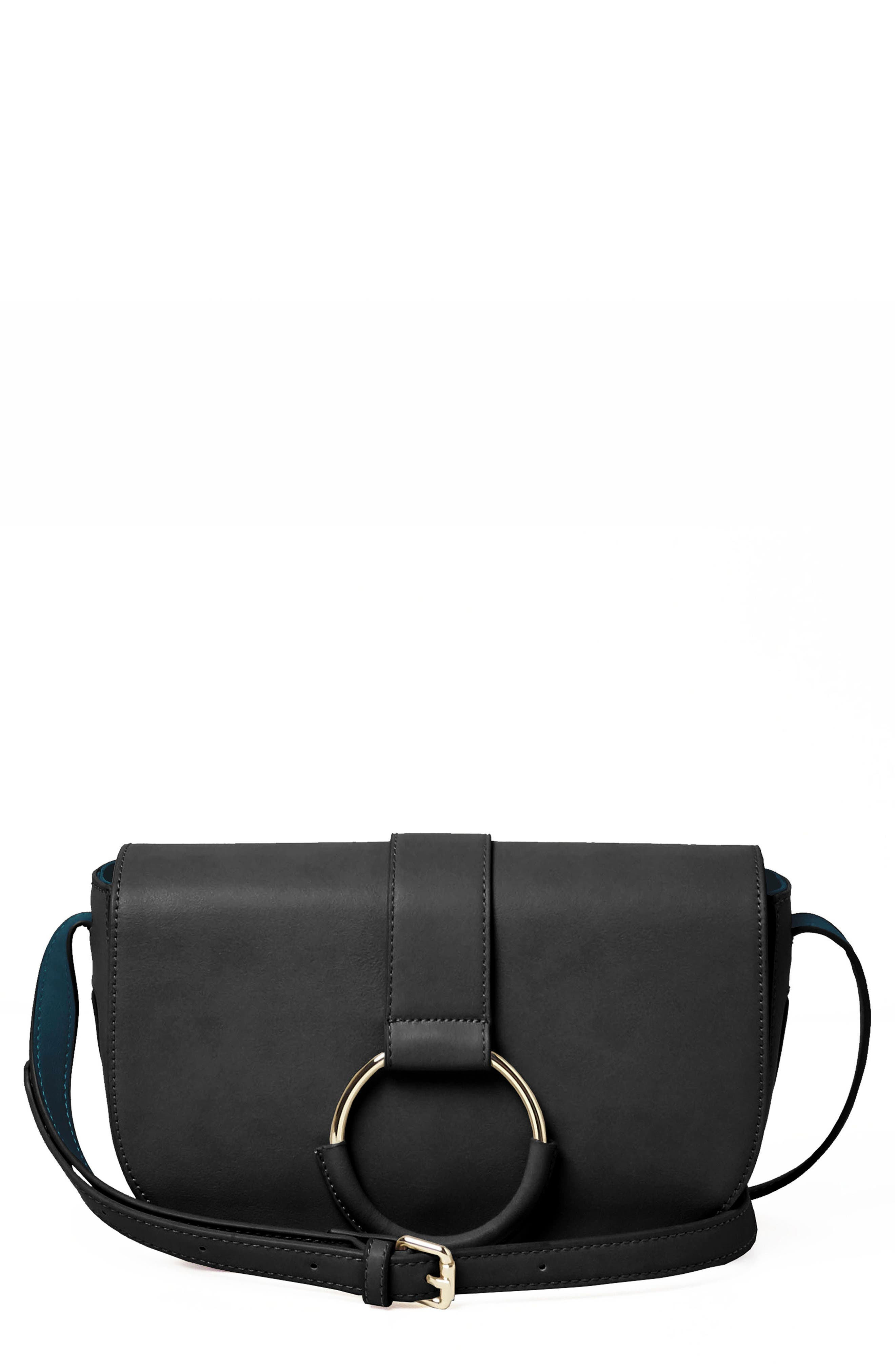 URBAN ORIGINALS Lolita Vegan Leather Crossbody Bag, Main, color, 001