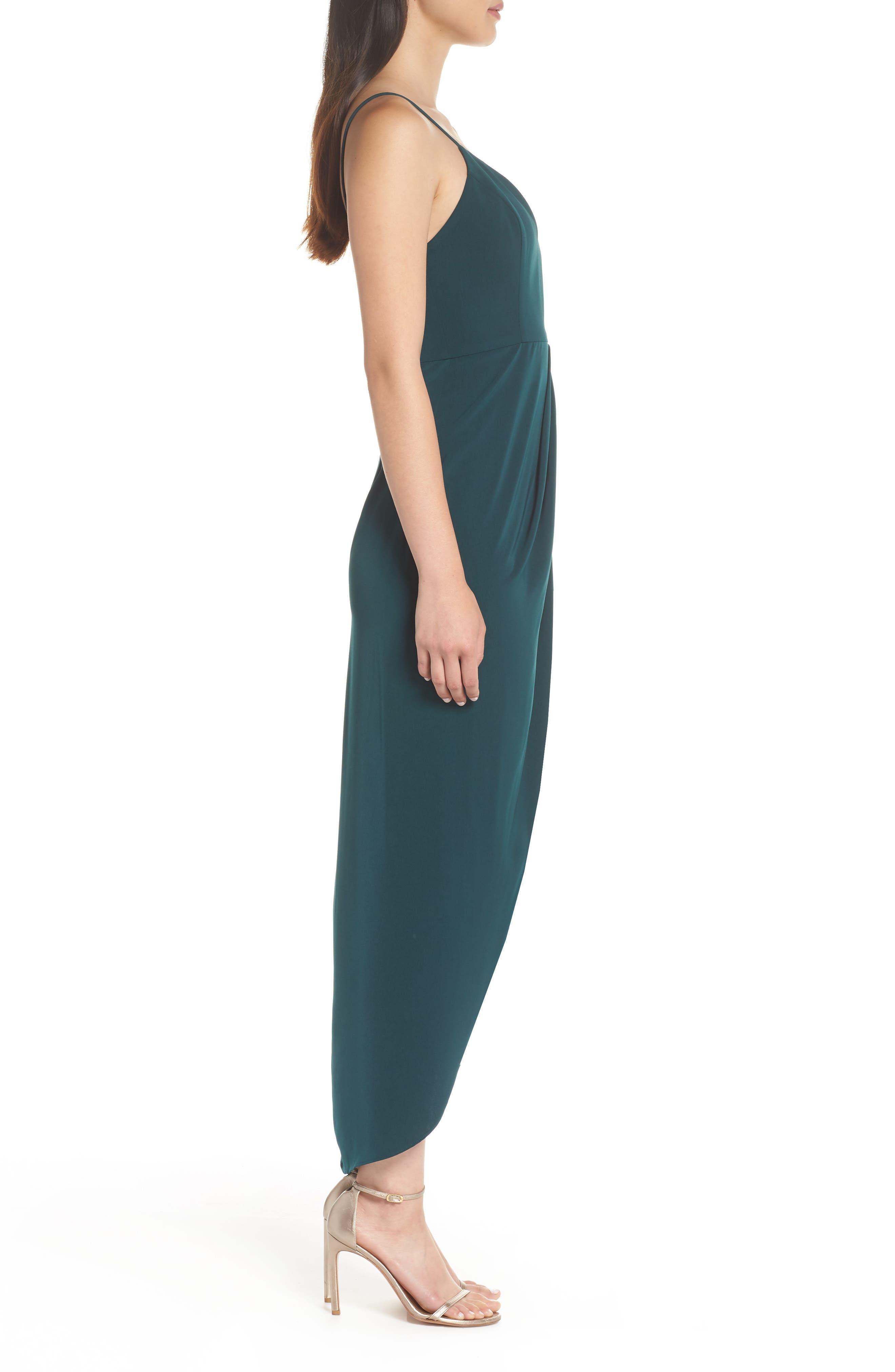 Tulip Hem Maxi Dress,                             Alternate thumbnail 3, color,                             SEAWEED