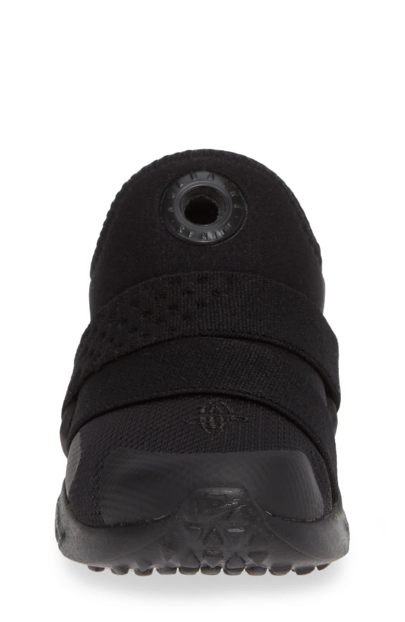 Huarache Extreme Sneaker,                             Alternate thumbnail 4, color,                             BLACK/ BLACK-BLACK