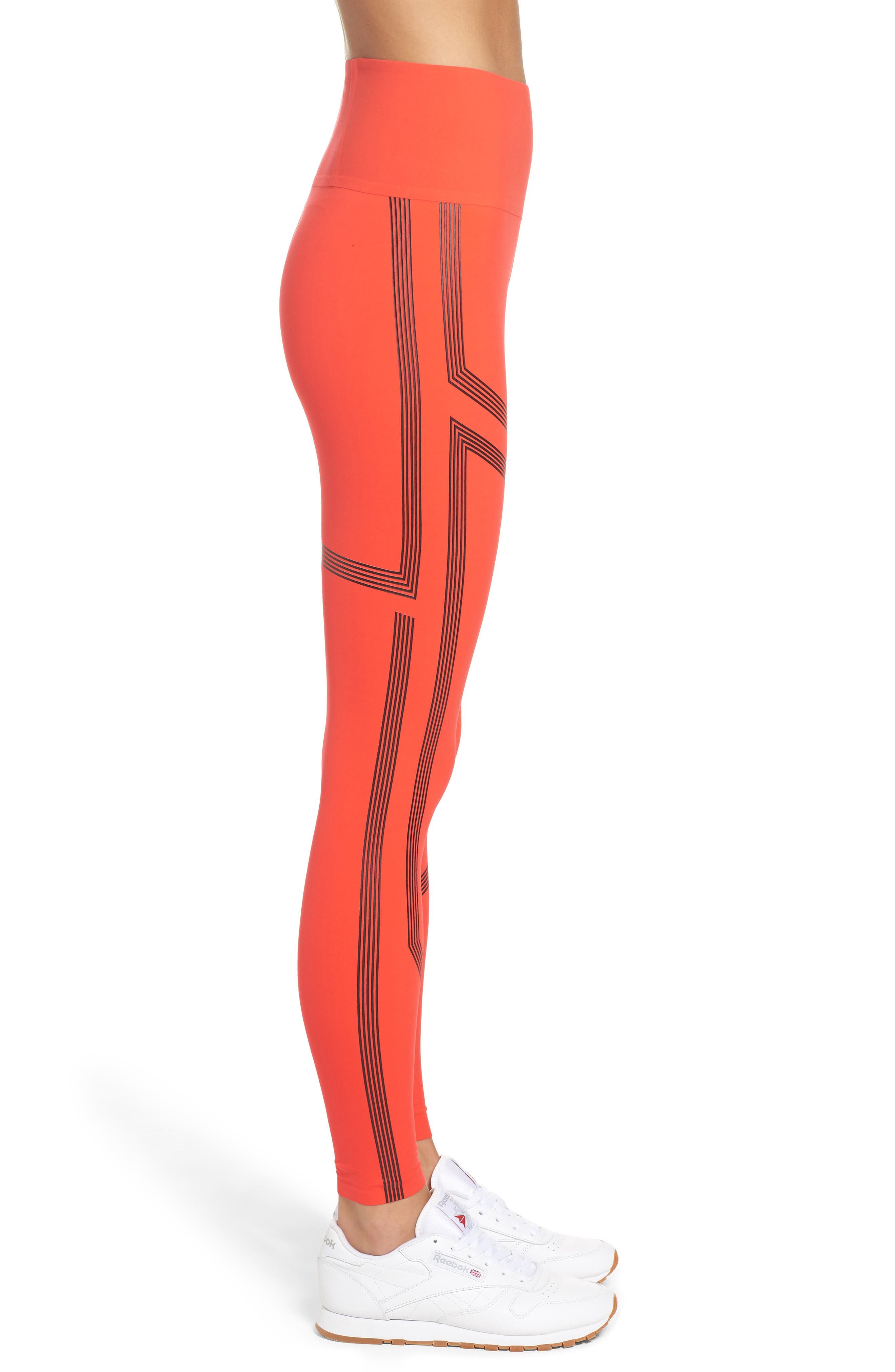 Linear High Rise Performance Tights,                             Alternate thumbnail 6, color,