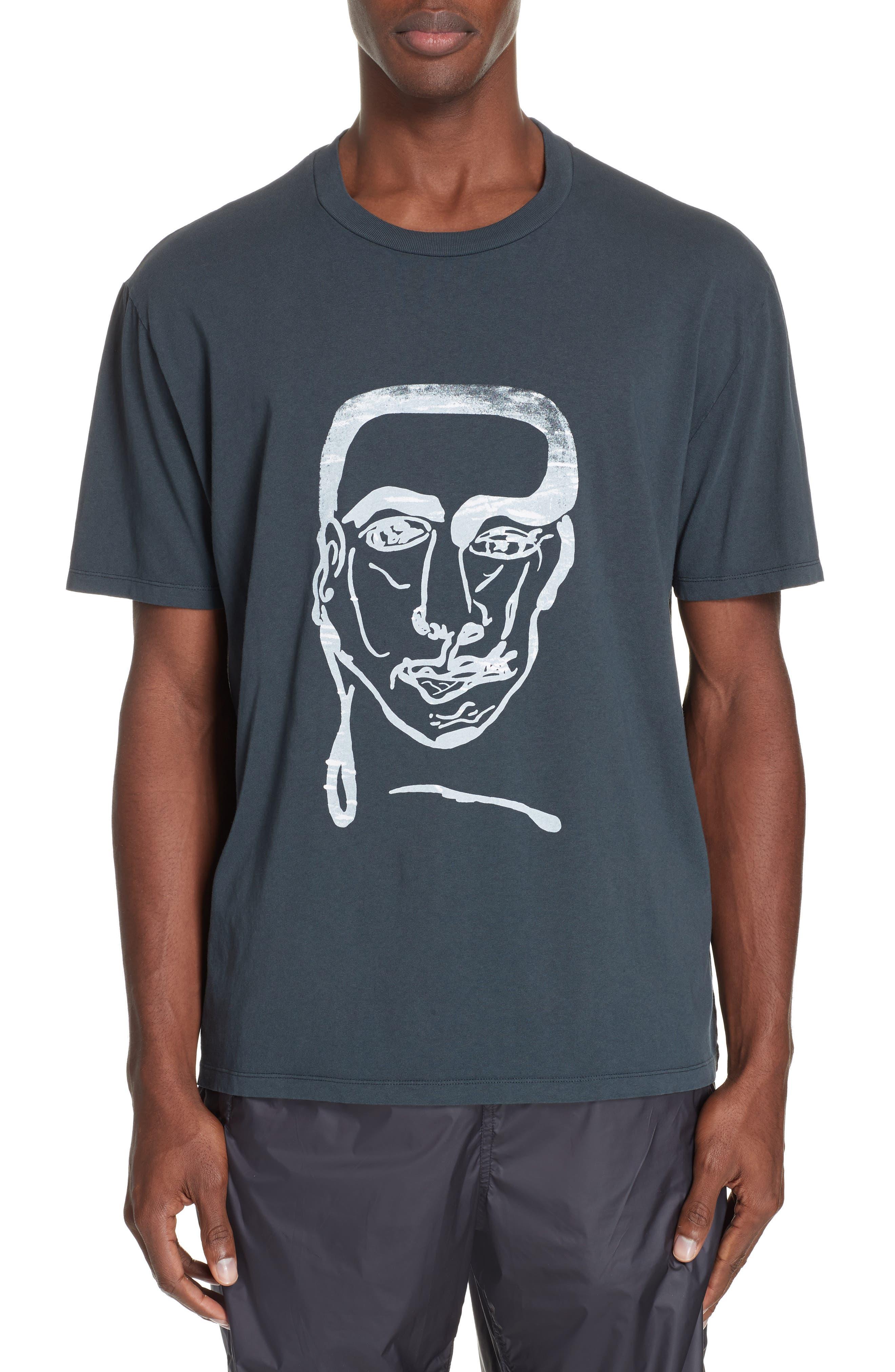 Portrait Graphic Box T-shirt,                         Main,                         color, BLACK
