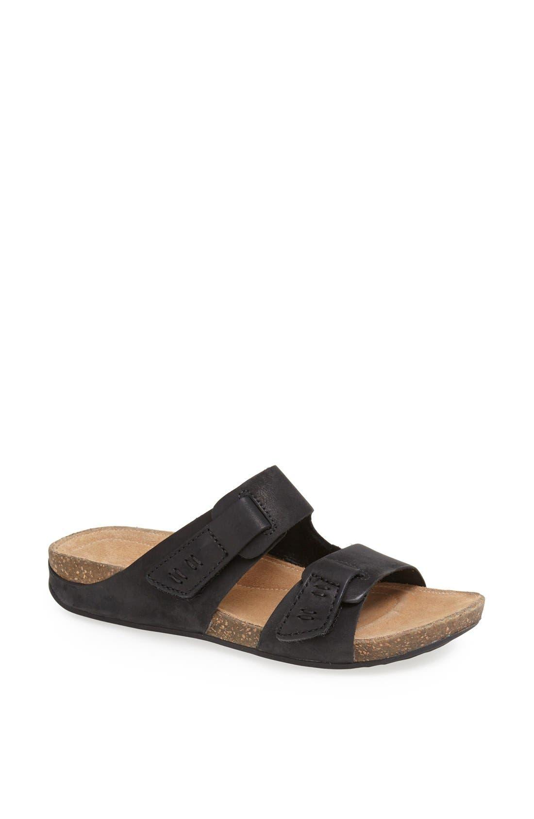 'Perri Coast' Leather Thong Sandal,                             Main thumbnail 1, color,                             005