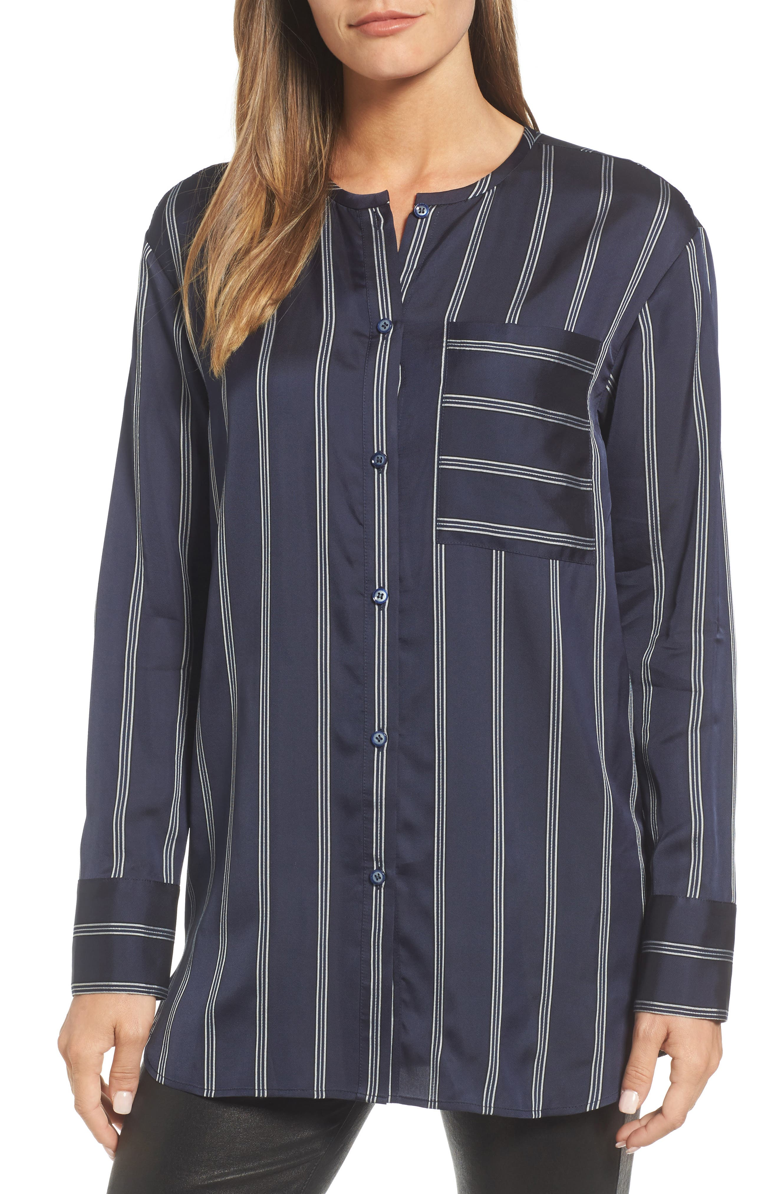 Striped Patch Pocket Shirt,                             Main thumbnail 1, color,                             410