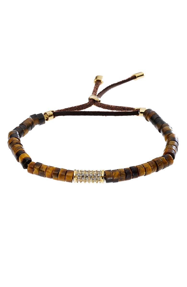 Michael Kors Sleek Exotics Pavé Bead Stretch Bracelet