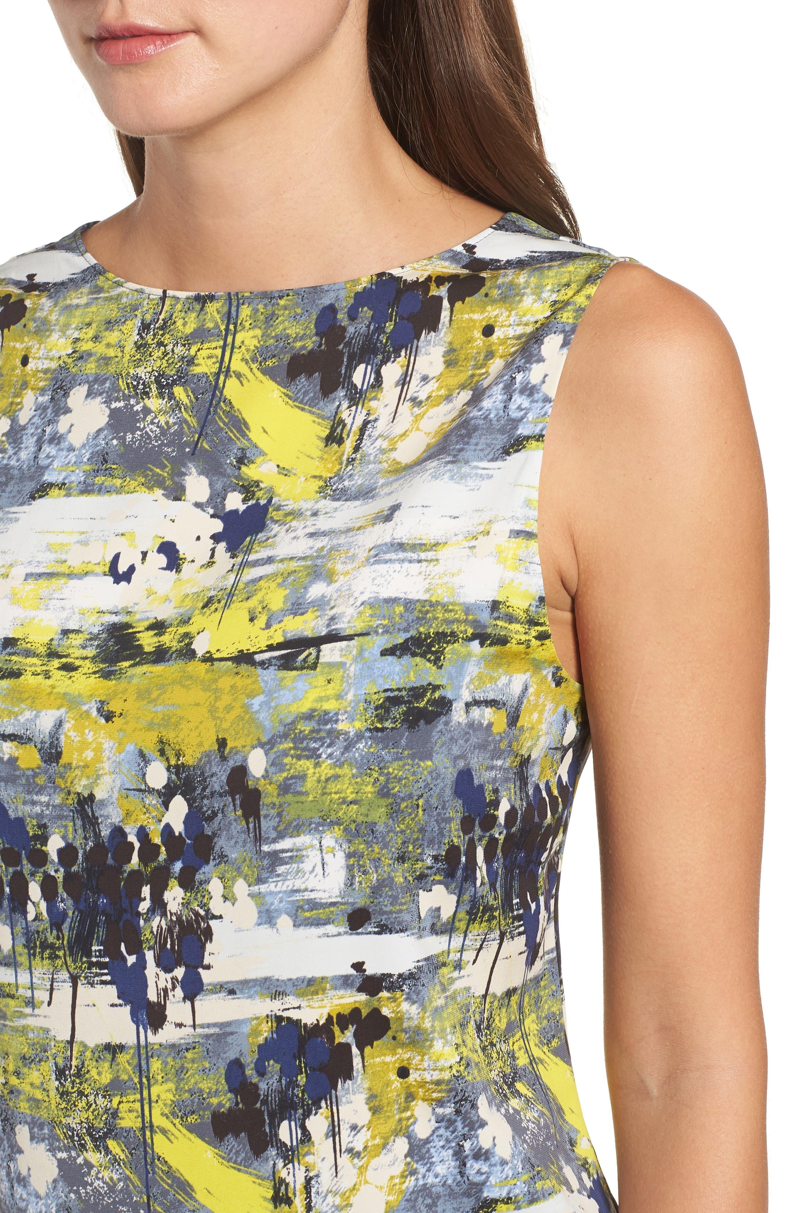 Drape Back Silk Blend Top,                             Alternate thumbnail 4, color,