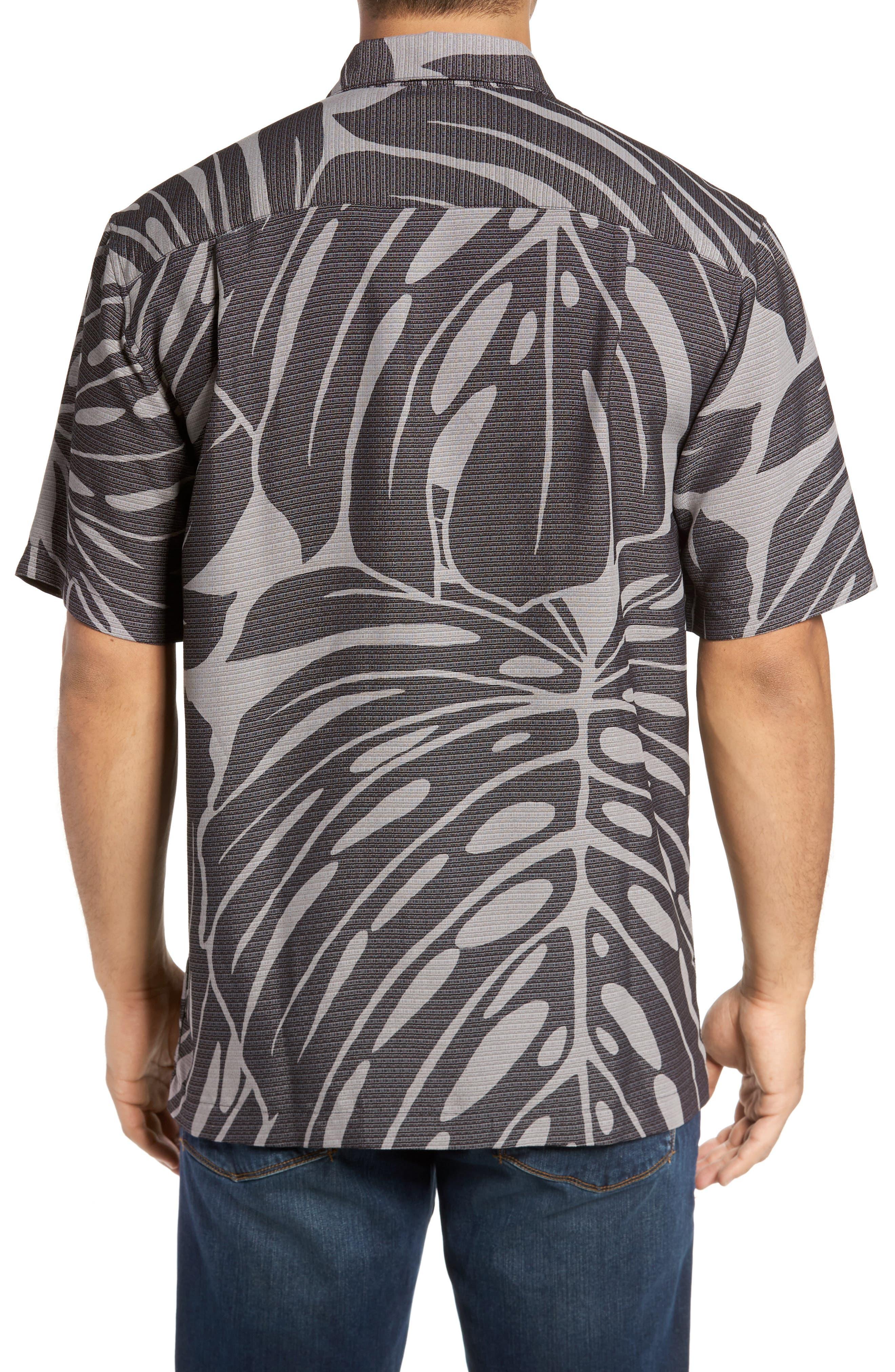 Syri's Leaf Classic Fit Print Sport Shirt,                             Alternate thumbnail 3, color,