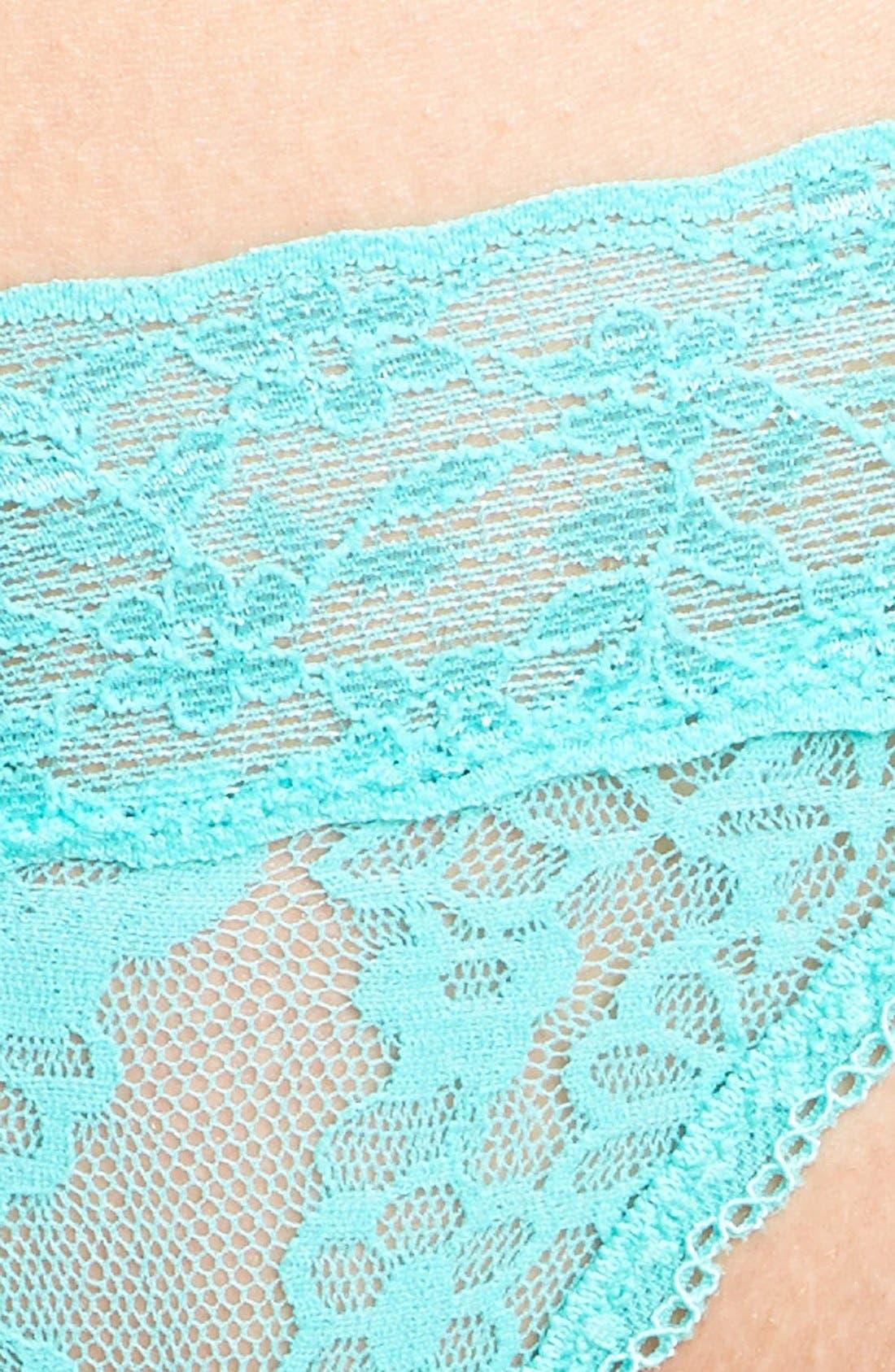 Lace Waist Thong,                             Alternate thumbnail 23, color,