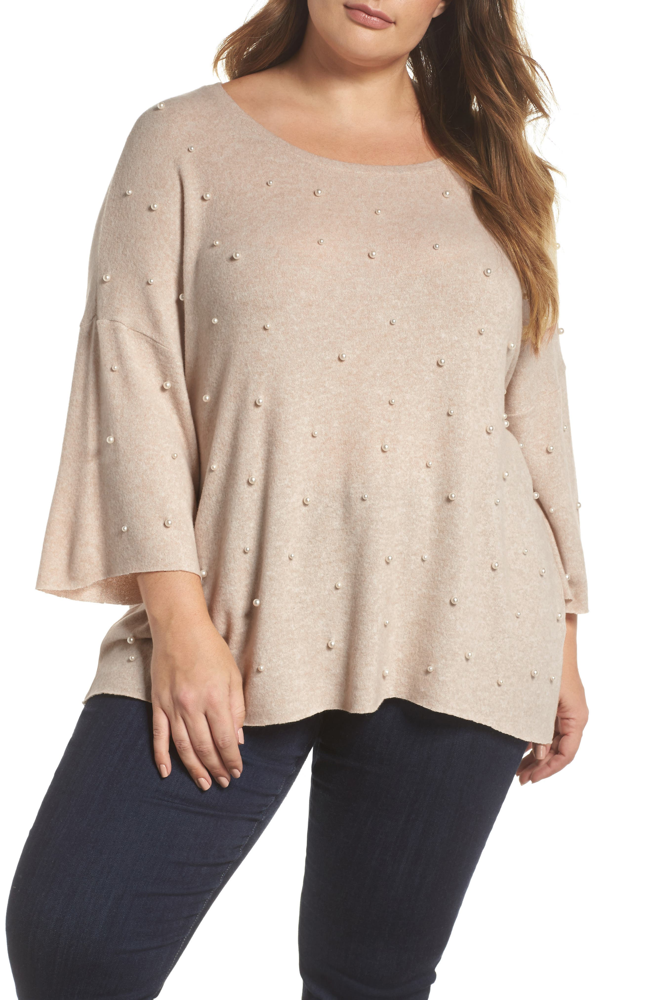 Pearl Embellished Sweater,                             Main thumbnail 2, color,