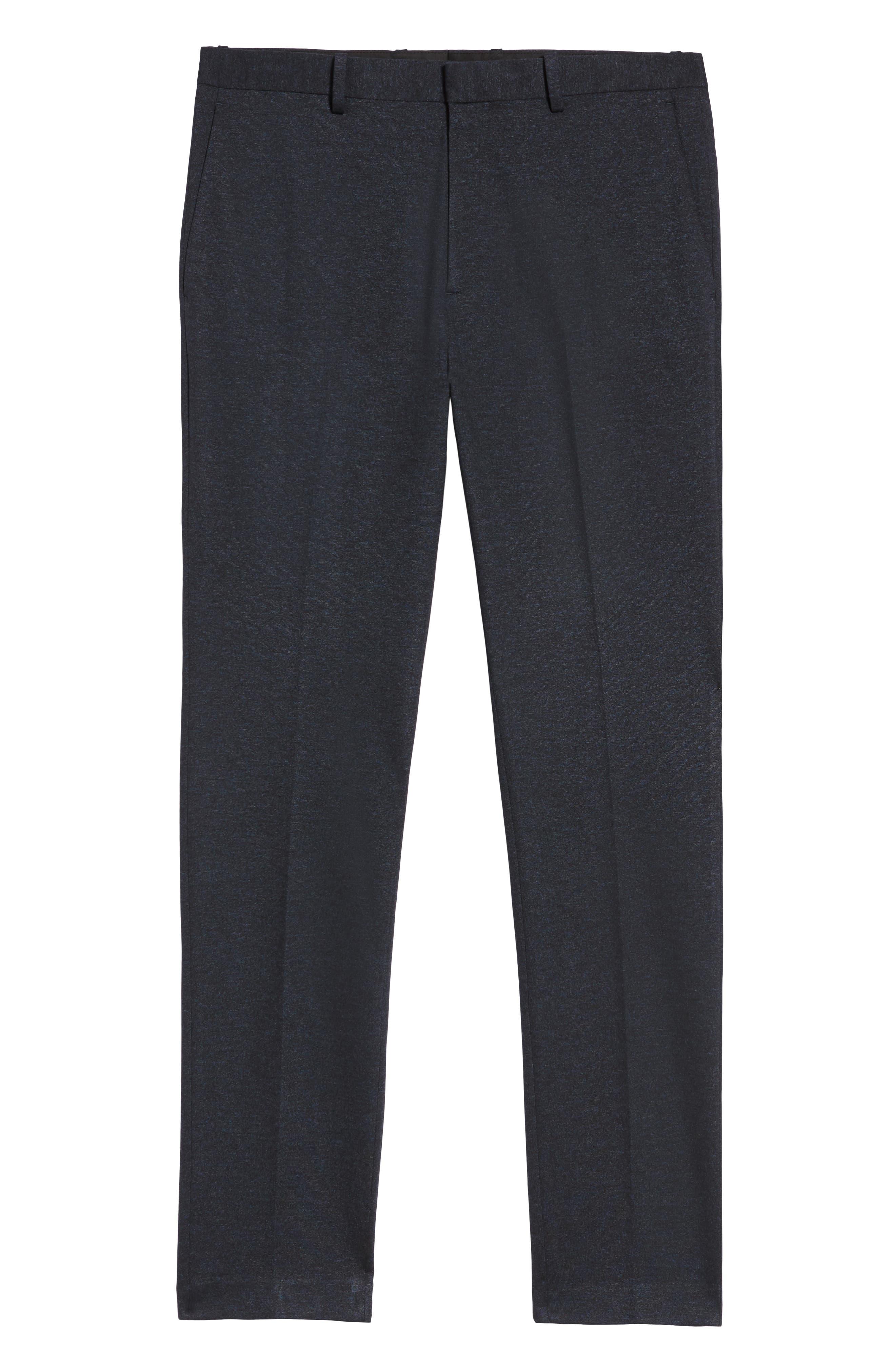 Payton Marled Ponte Trousers,                             Alternate thumbnail 6, color,                             ECLIPSE MELANGE
