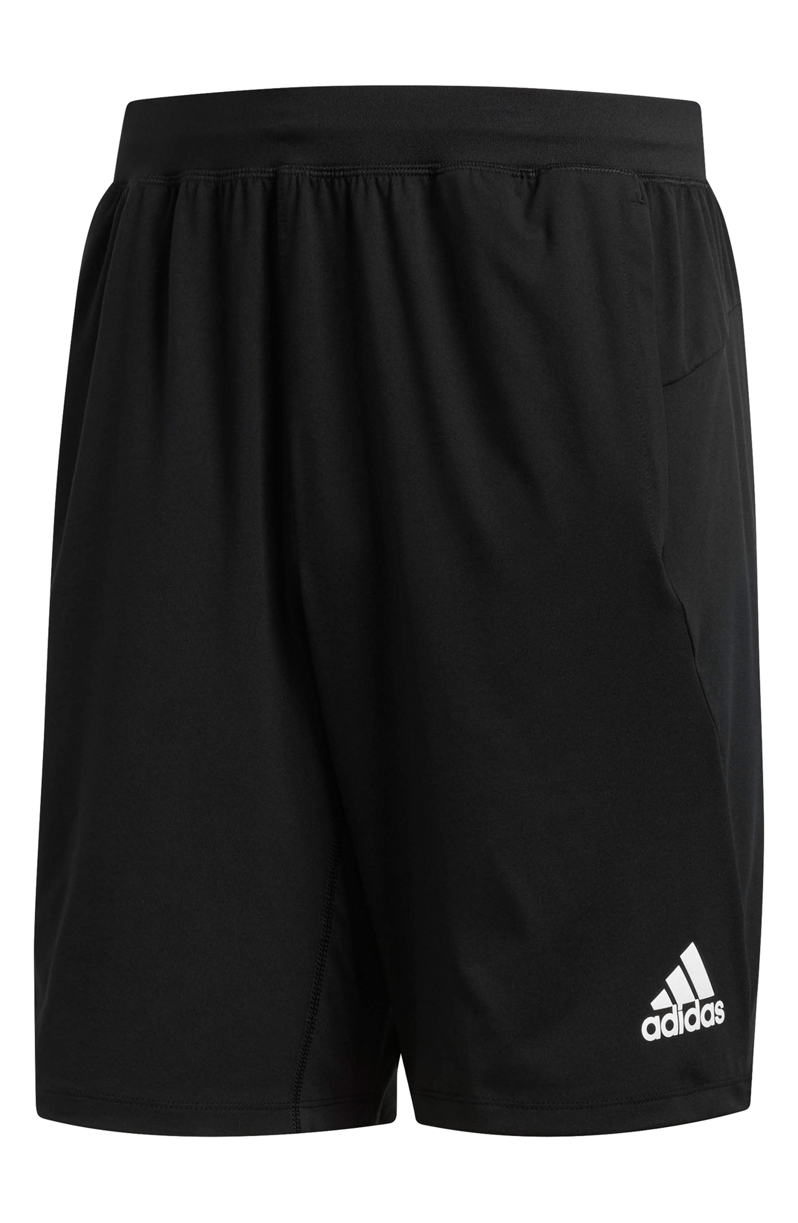 Ultimate Knit Athletic Shorts, Main, color, BLACK