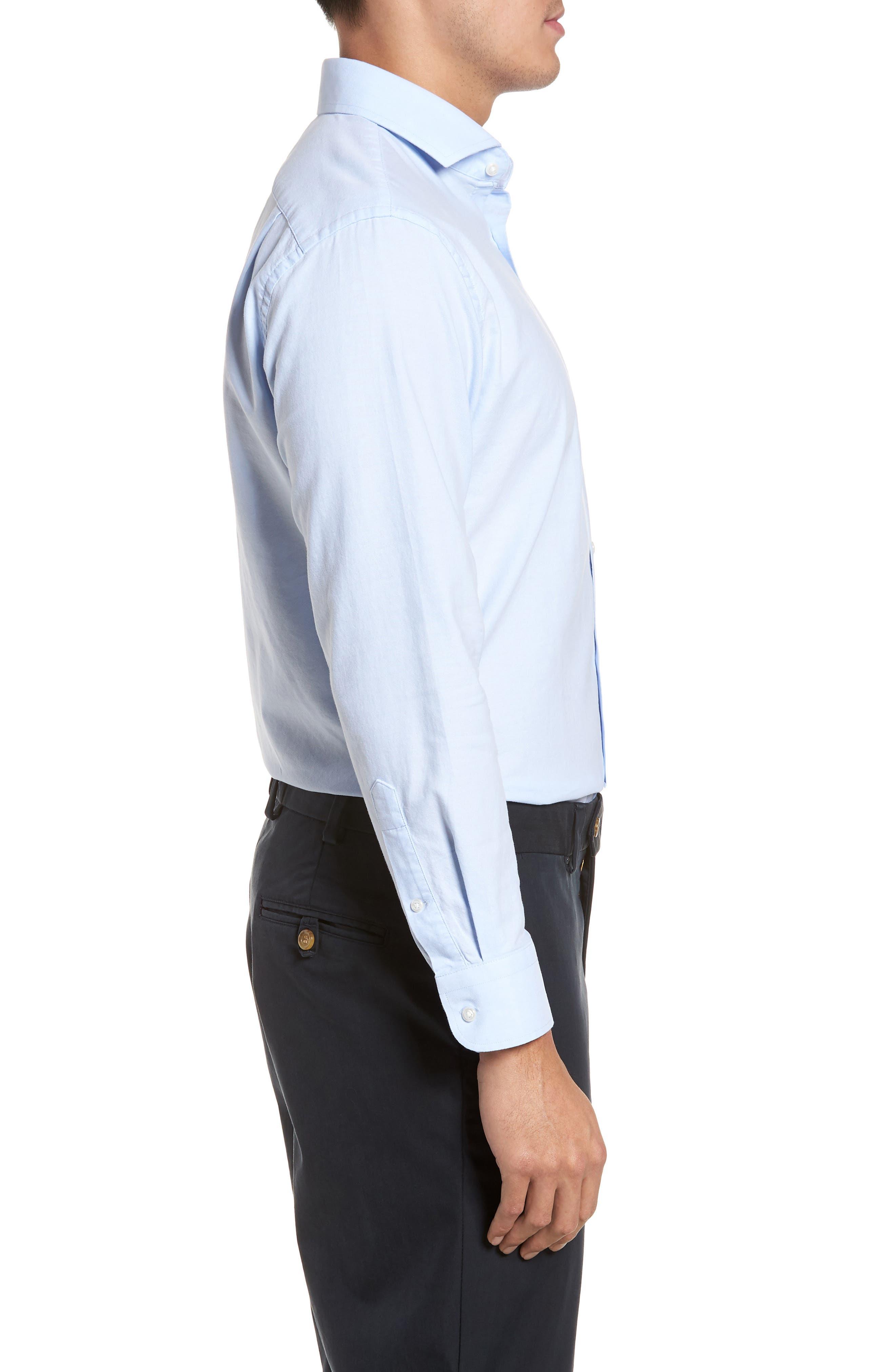 Trim Fit Solid Dress Shirt,                             Alternate thumbnail 12, color,