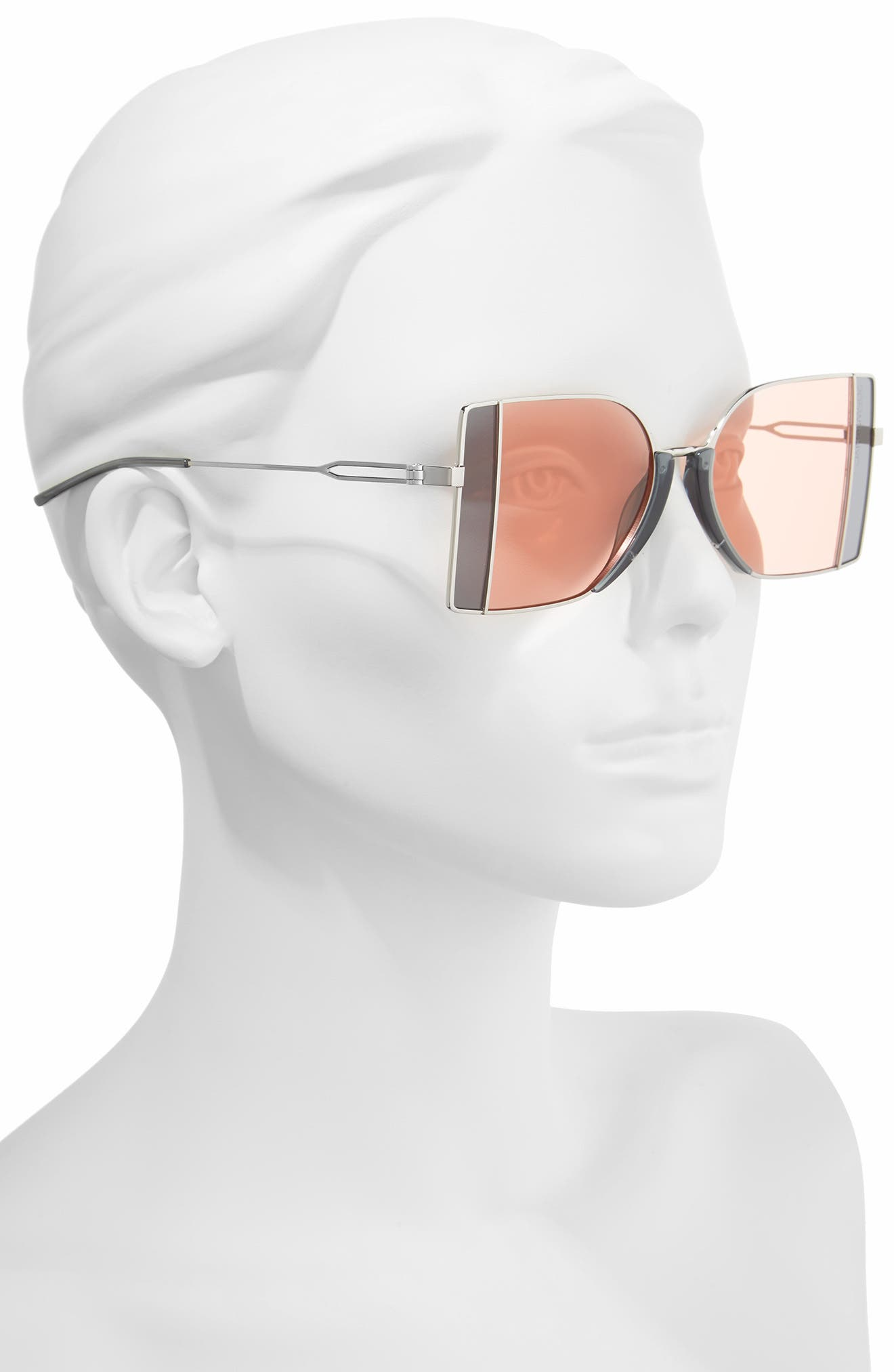 205W39NYC 51mm Butterfly Sunglasses,                             Alternate thumbnail 2, color,                             040