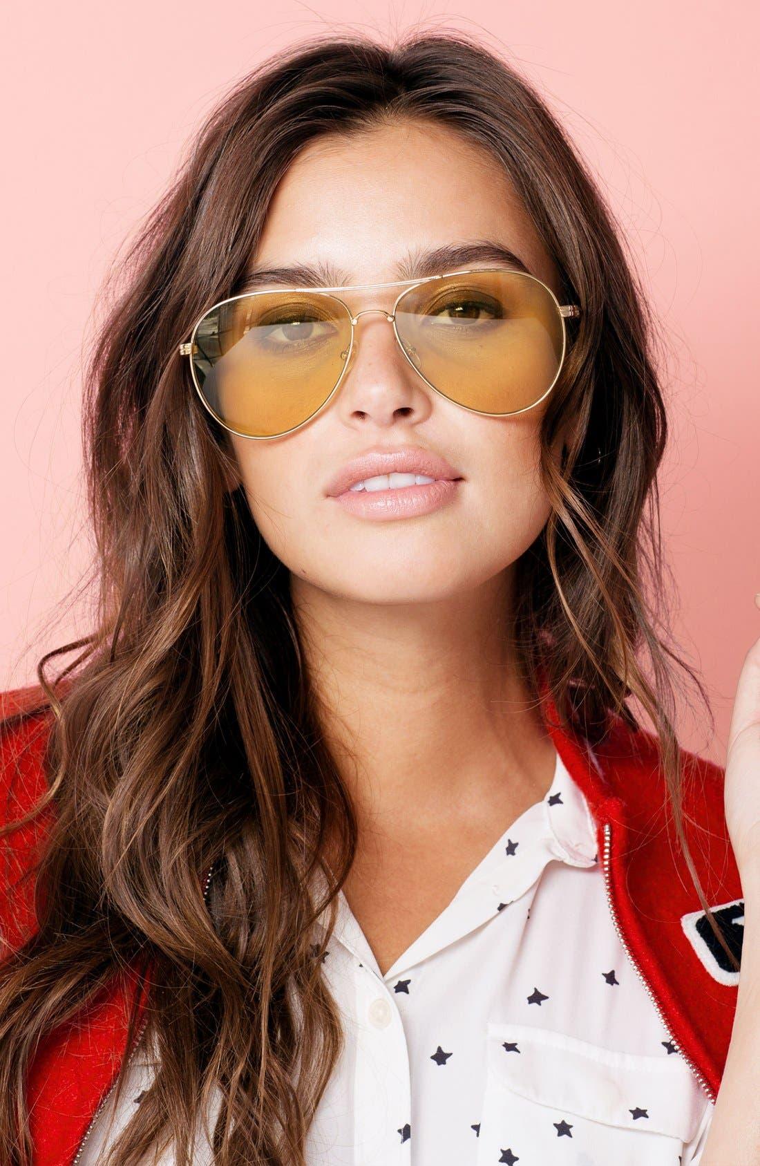 Lodi 62mm Mirrored Aviator Sunglasses,                             Alternate thumbnail 35, color,