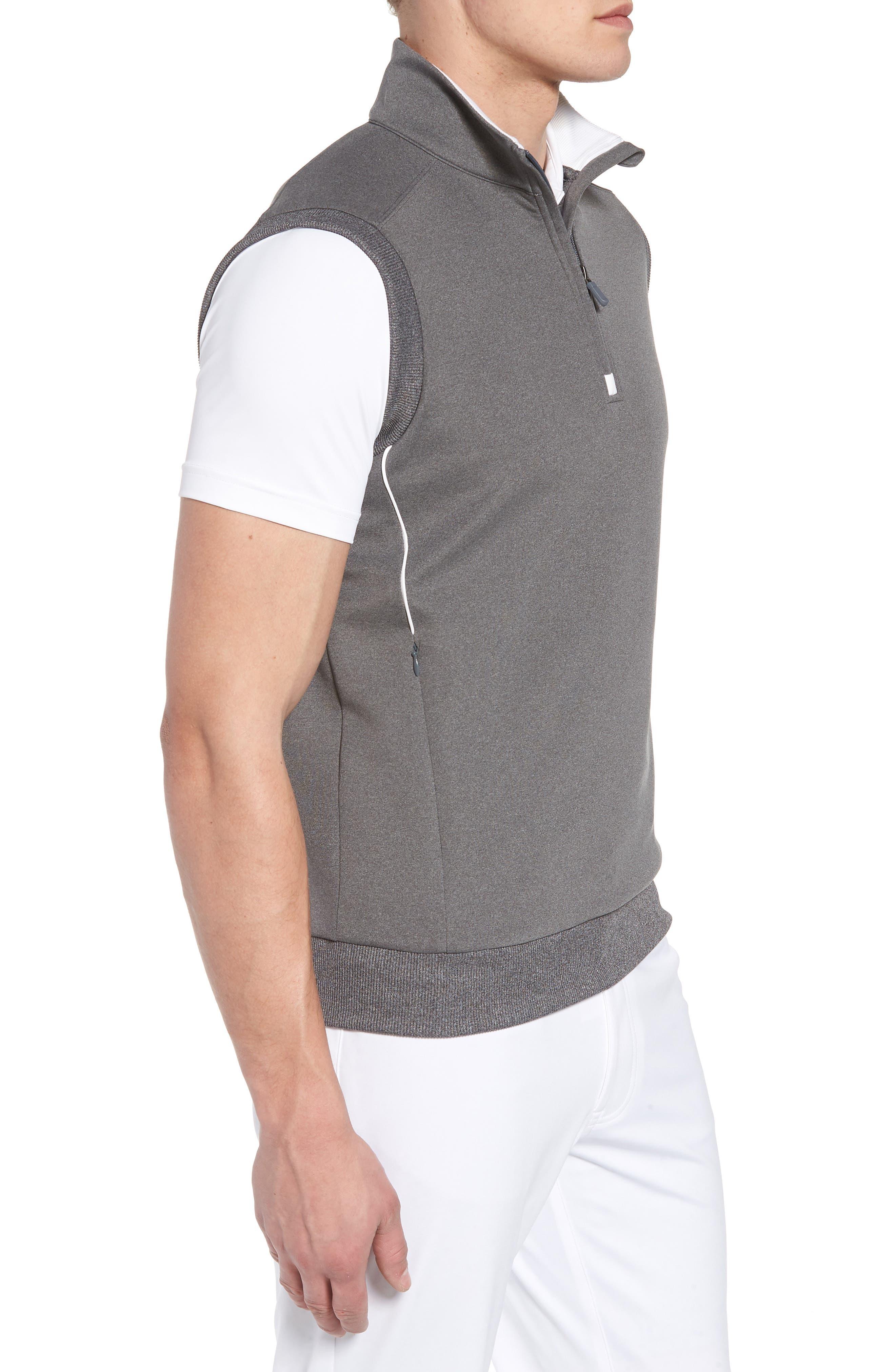 Quarter Zip Tech Vest,                             Alternate thumbnail 3, color,                             GRAPHITE HEATHER