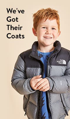 We've got their coats: kids' coats and jackets.