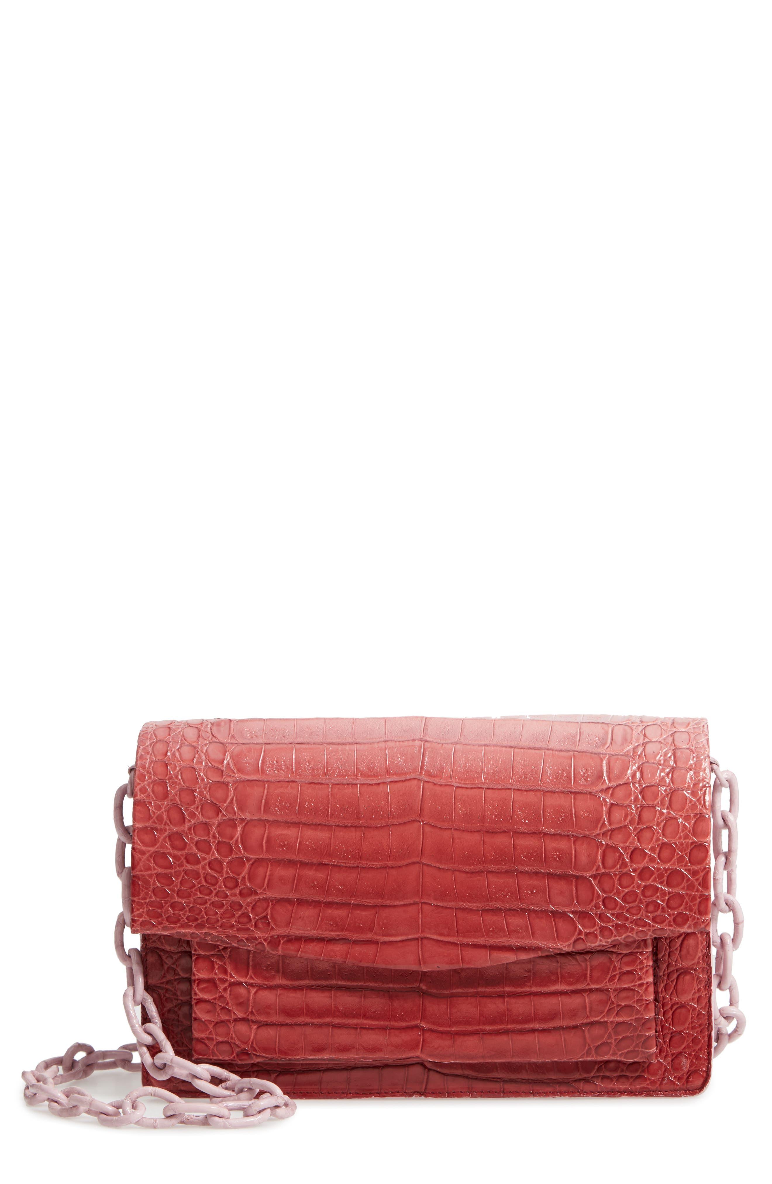 Medium Genuine Crocodile Crossbody Bag,                             Main thumbnail 1, color,                             550