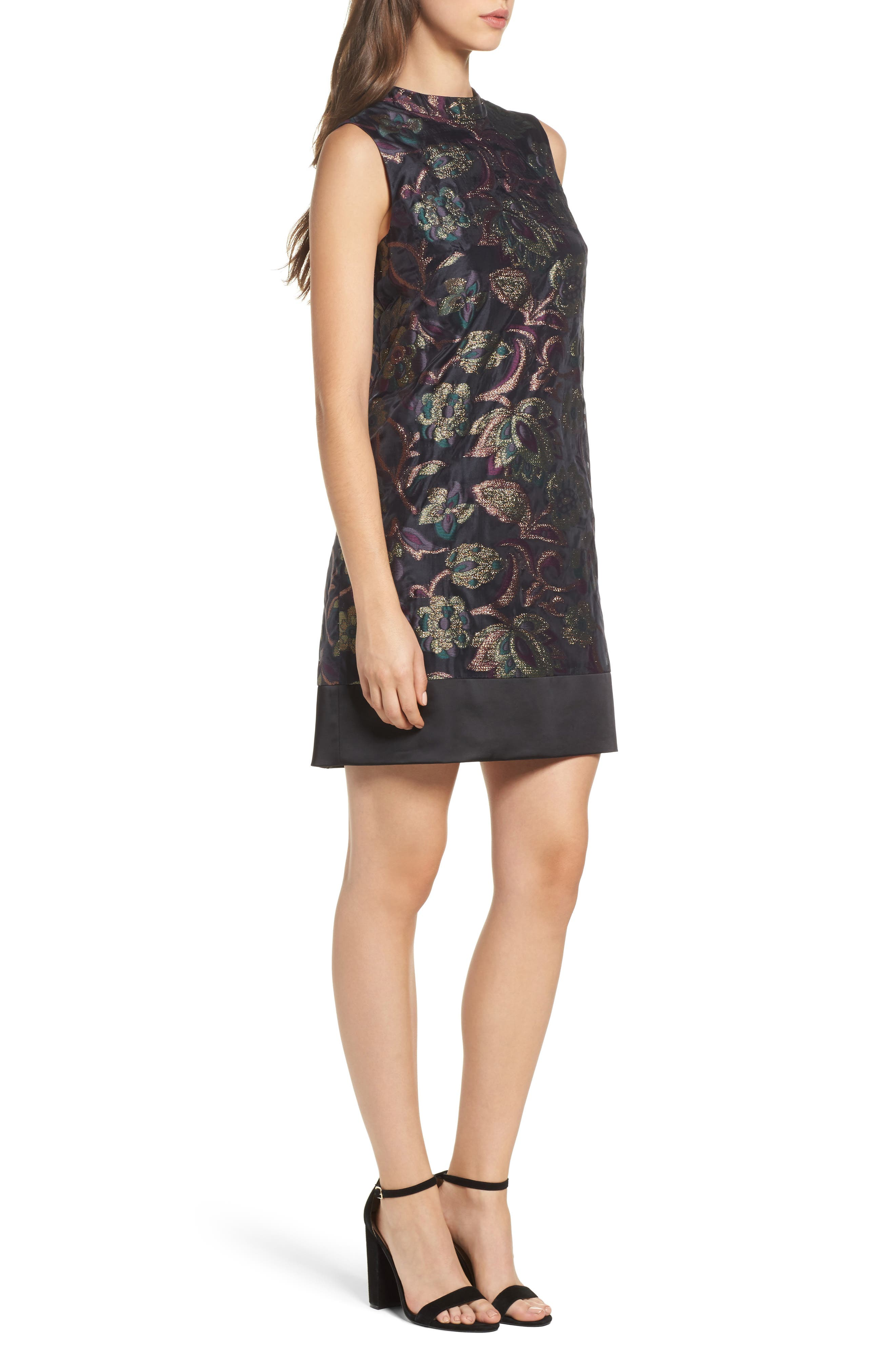 Jacquard Shift Dress,                             Alternate thumbnail 3, color,