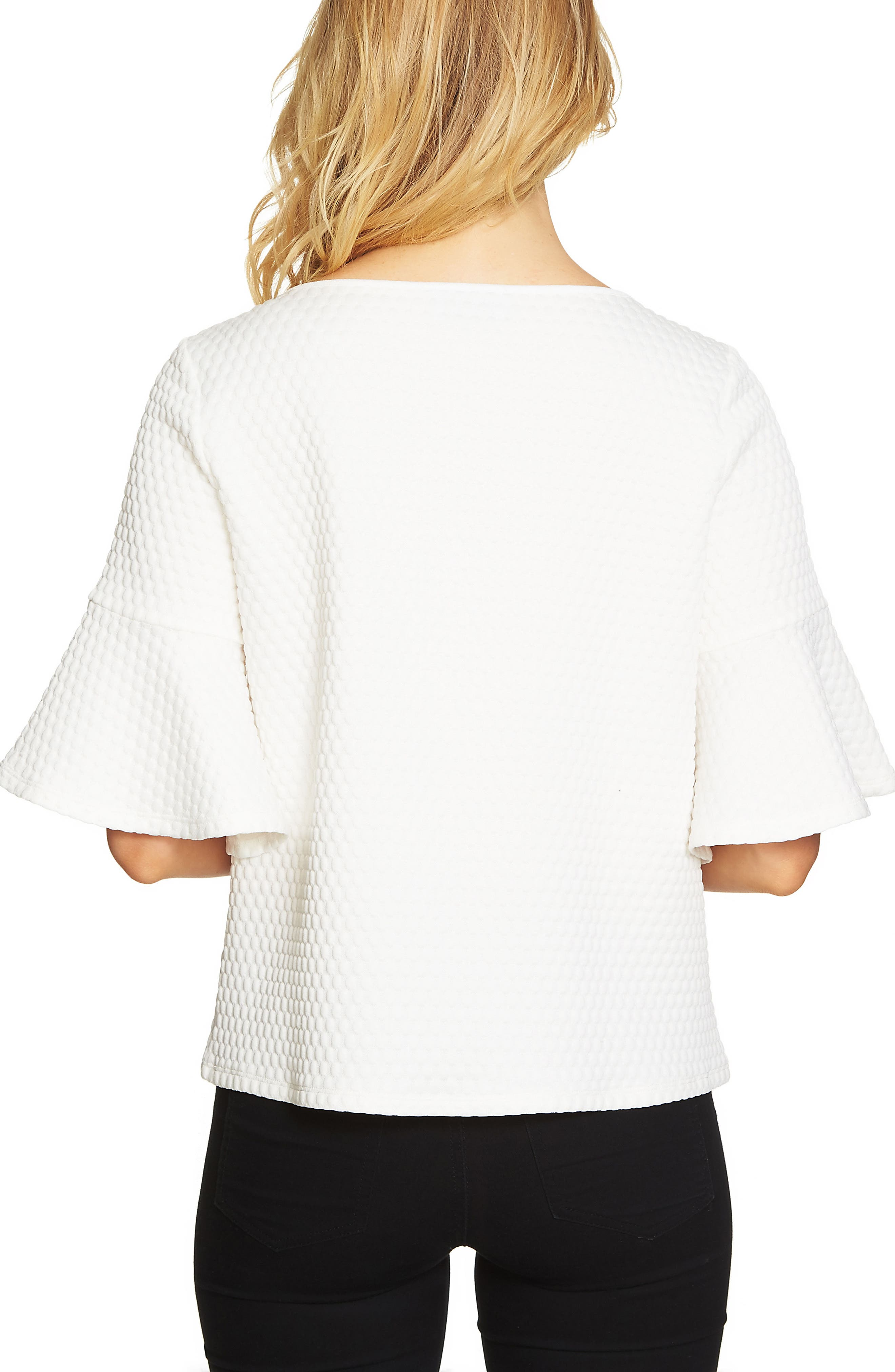 Bell Sleeve Bubble Knit Top,                             Alternate thumbnail 2, color,                             903